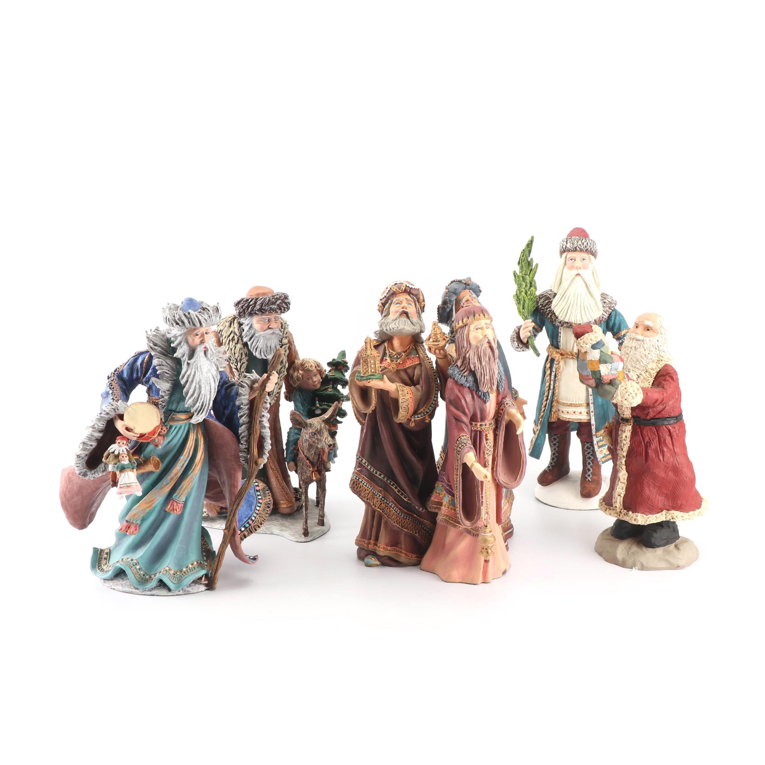 "Duncan Royale ""History of Santa"" Resin Figurines, 1985-88"