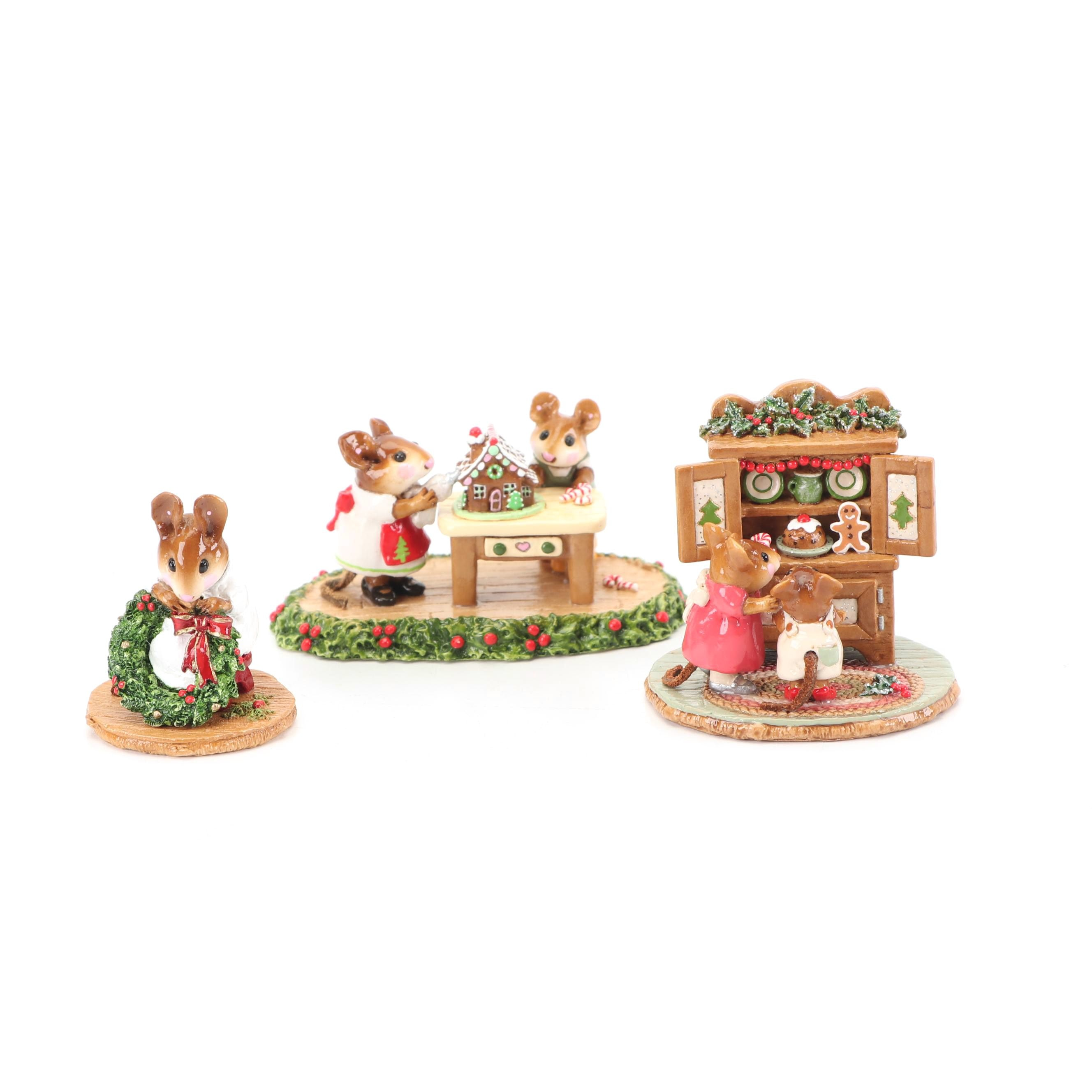 """Christmas """"Wee Forest Folk"""" Figurines by William and Donna Peterson"""