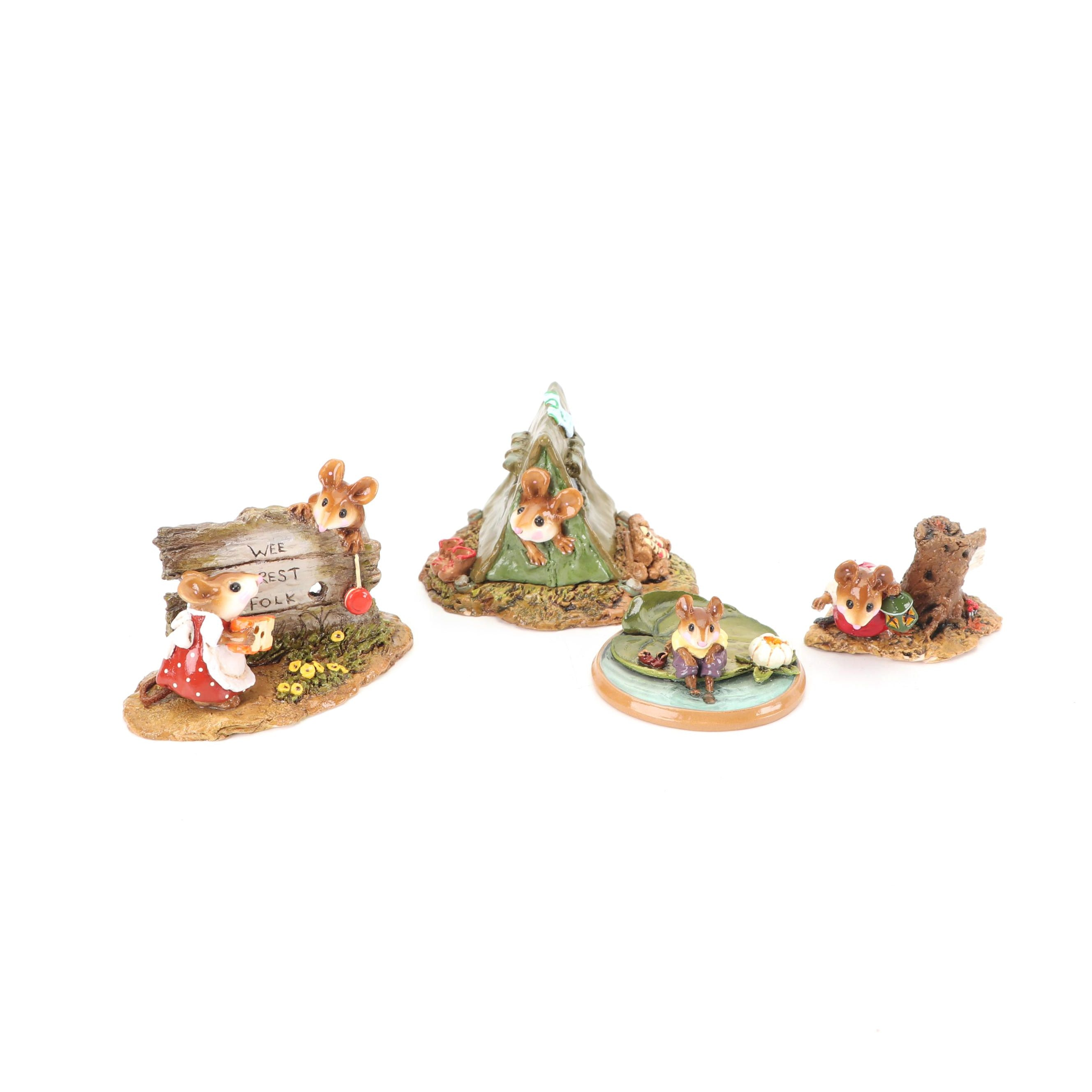 """""""Wee Forest Folk"""" Figurines by Annette, Donna, and William Peterson"""