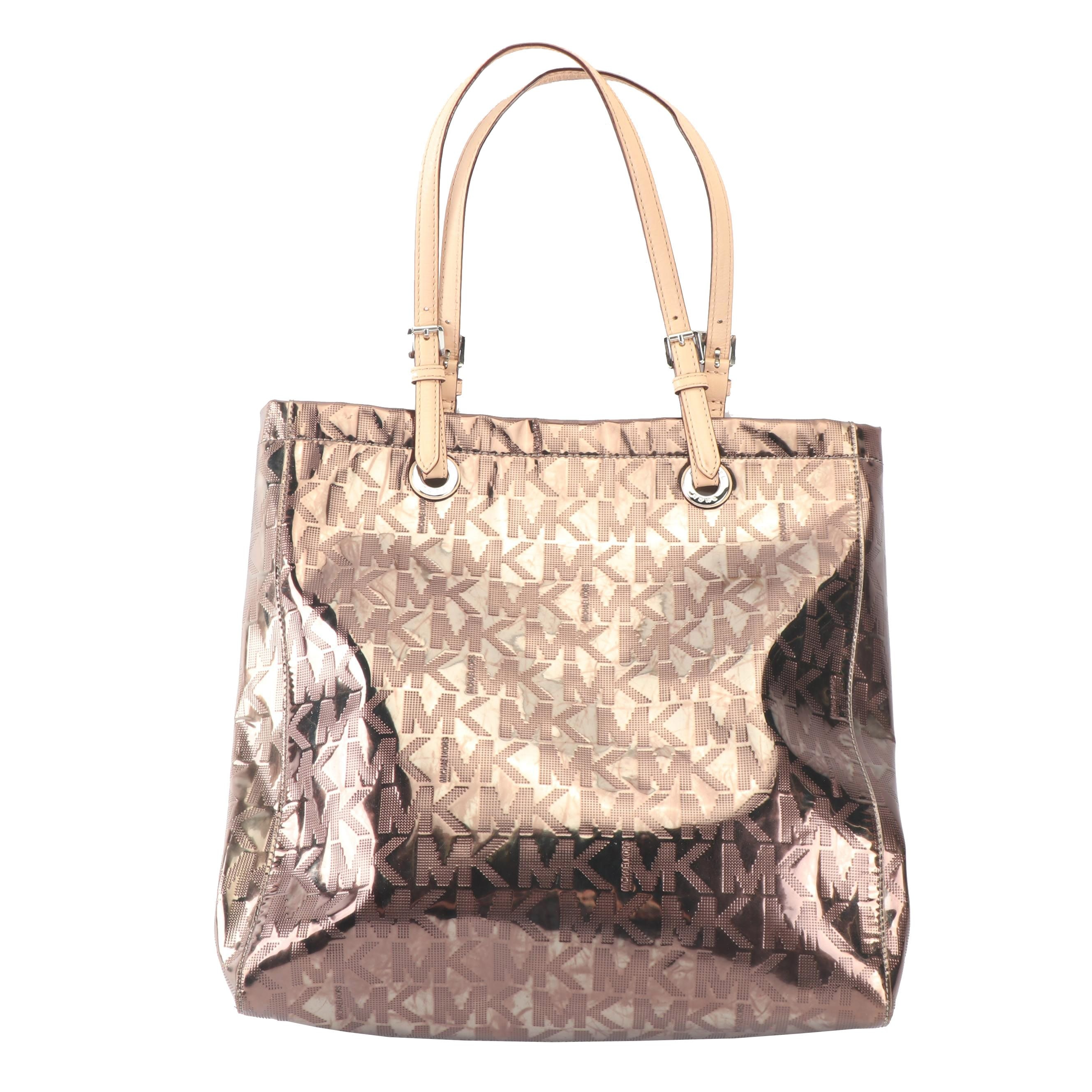 MICHAEL Michael Kors Jet Set Mirror Metallic Tote Bag