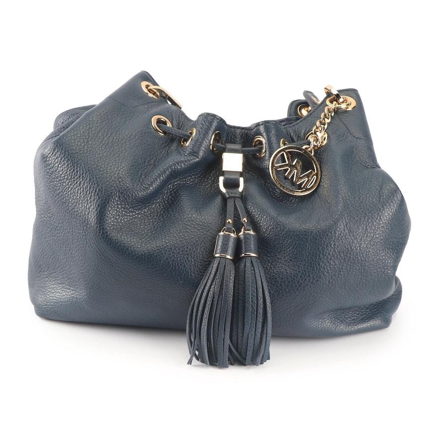 0e9a8e1f11b5 MICHAEL Michael Kors Camden Navy Blue Pebbled Leather Hobo Bag   EBTH