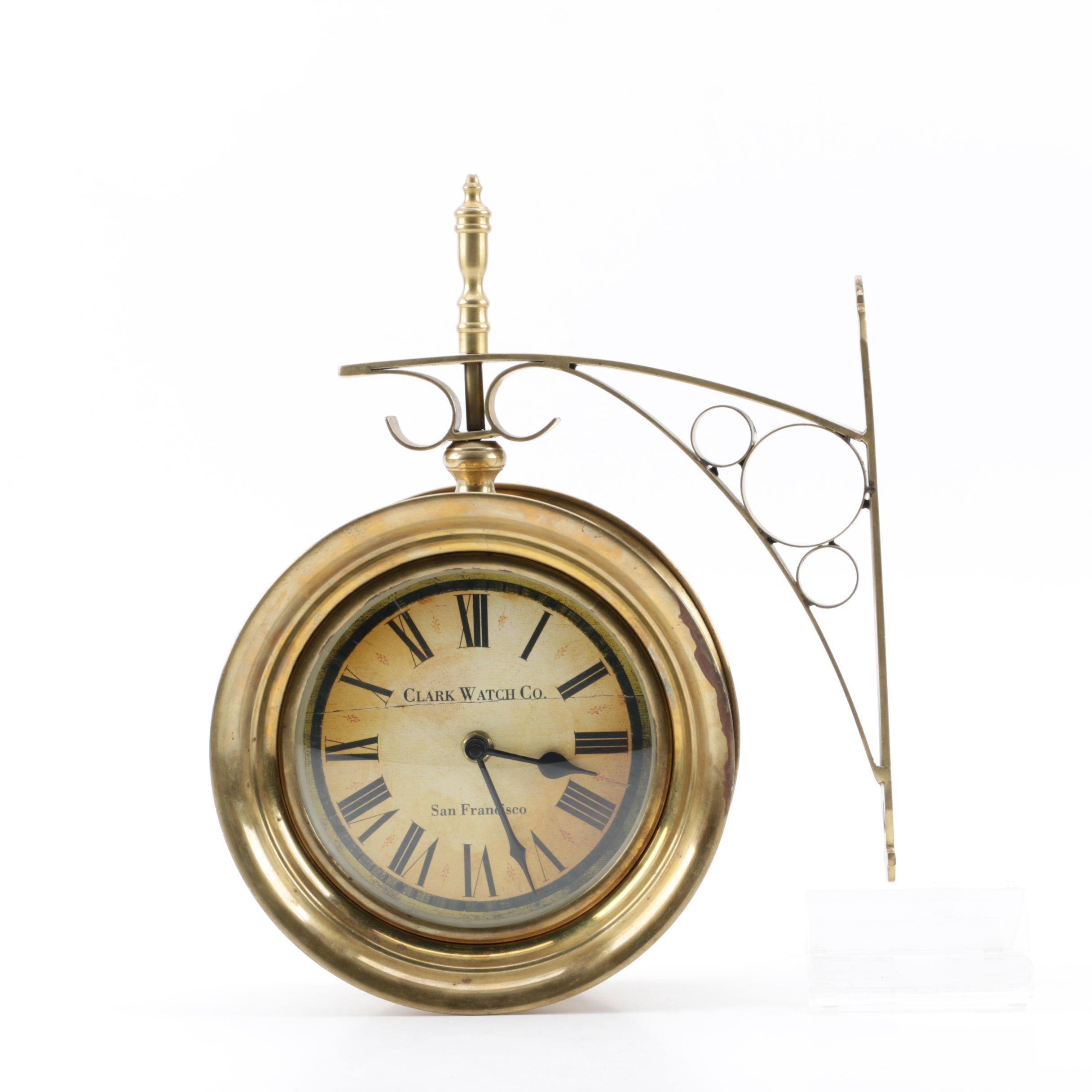 Clark Watch Co. Double Sided Wall Clock