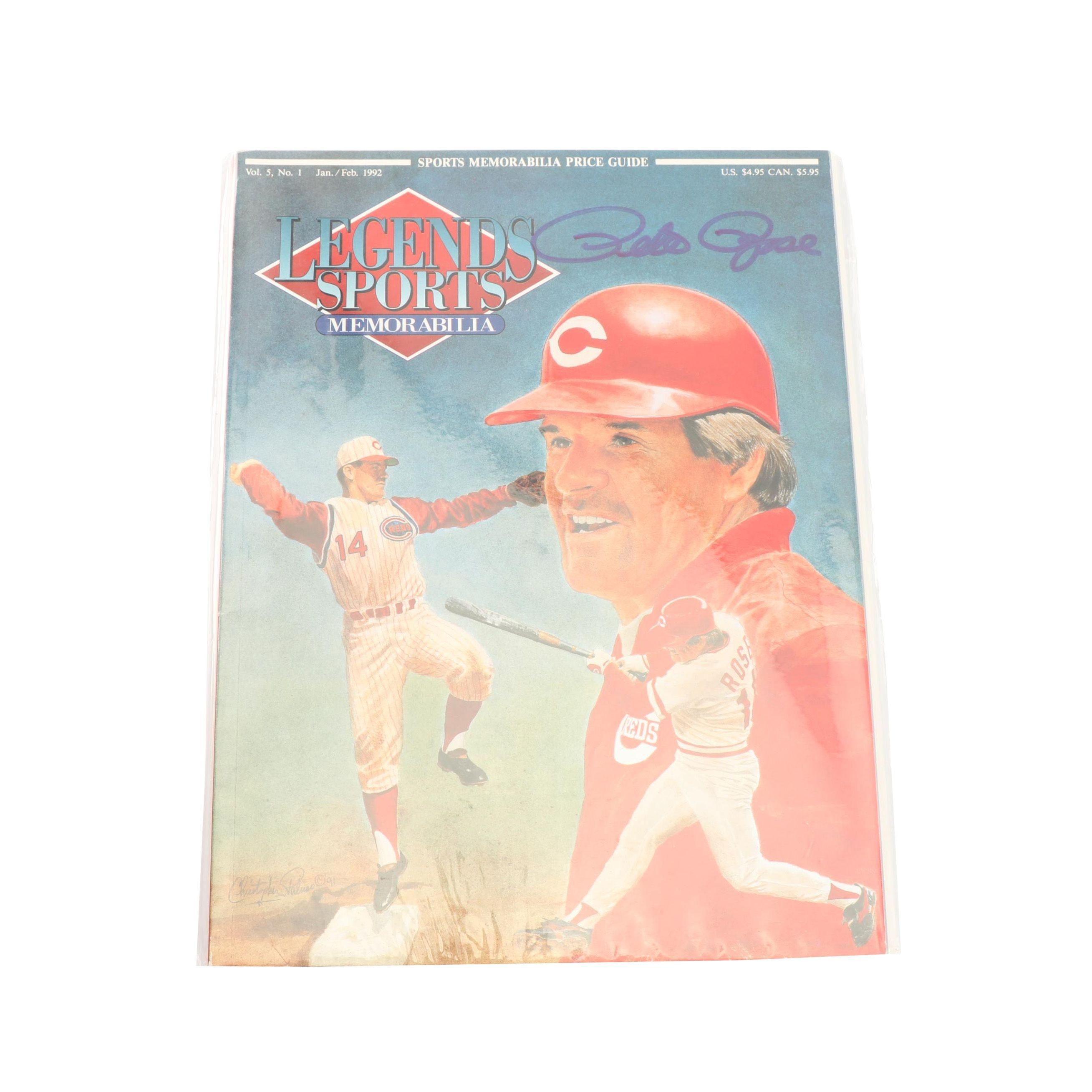 """Pete Rose Autographed 1992 """"Legends Sports Memorabilia"""" Price Guide"""