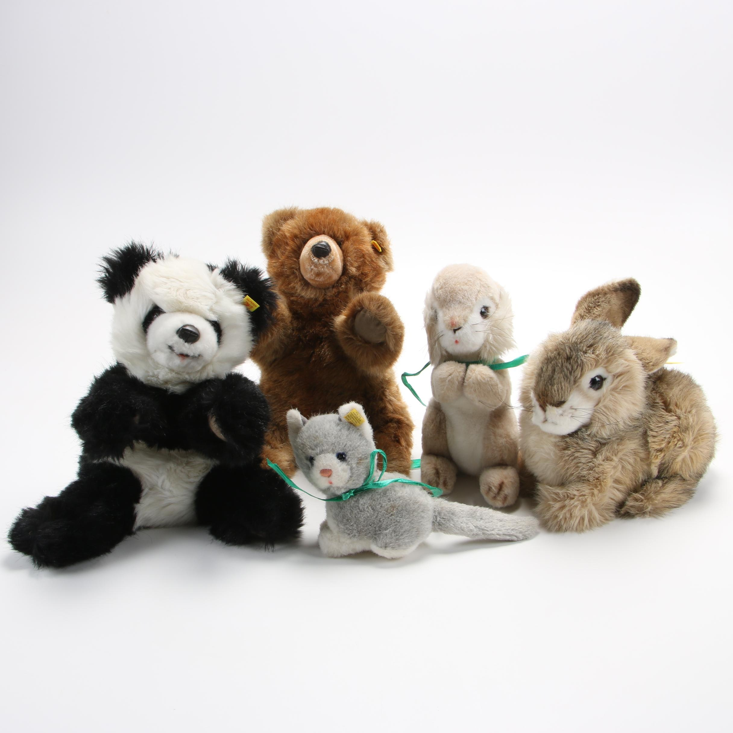 "Steiff Plush Animals including ""Dormy"" and ""Molly"", Circa 1970-80s"