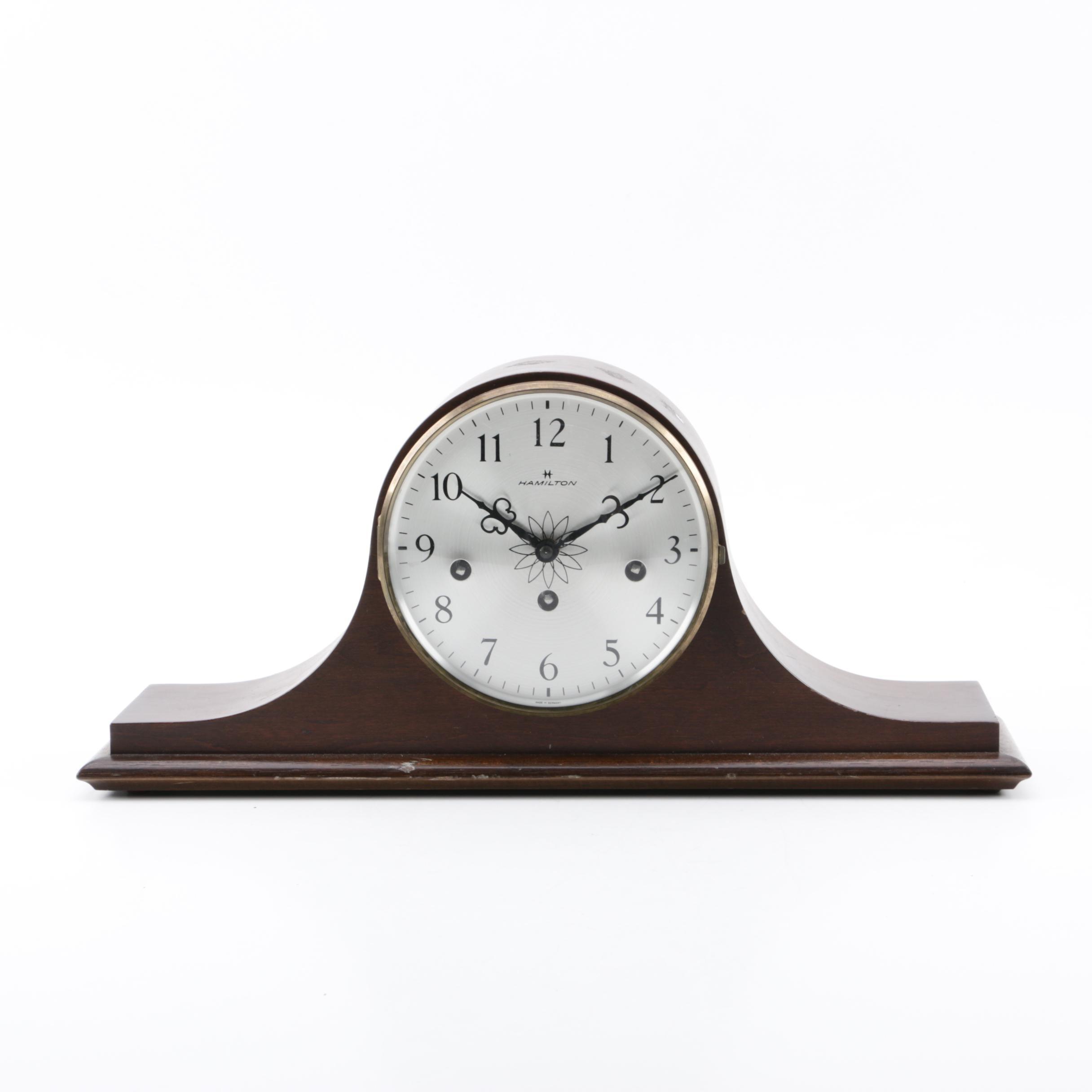 Hamilton Tambour Mantel Clock with Hermle Movement