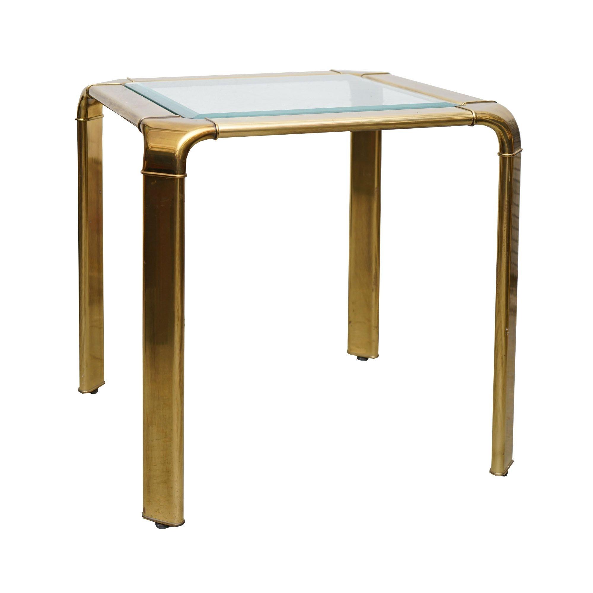 Brass Side Table by John Widdicomb