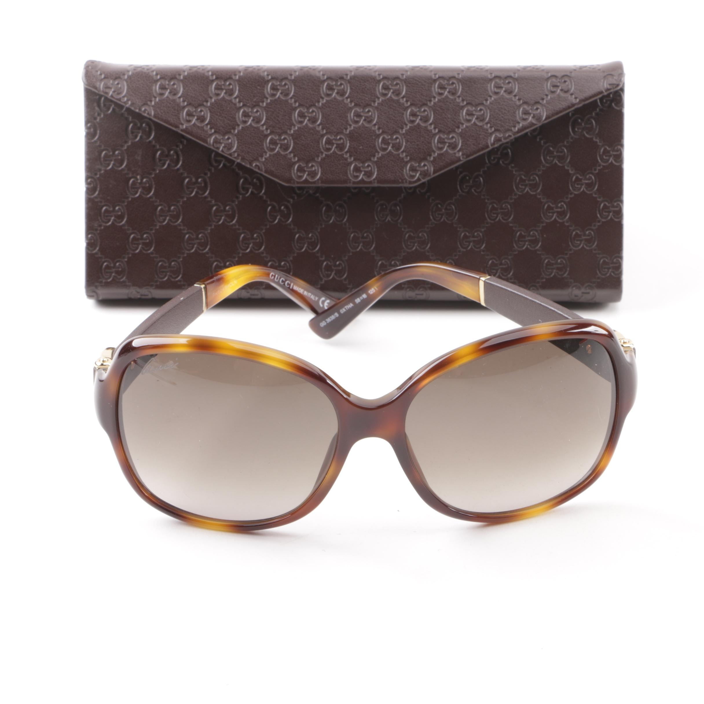 Gucci GG 3638/S Tortoiseshell Style Sunglasses with Case