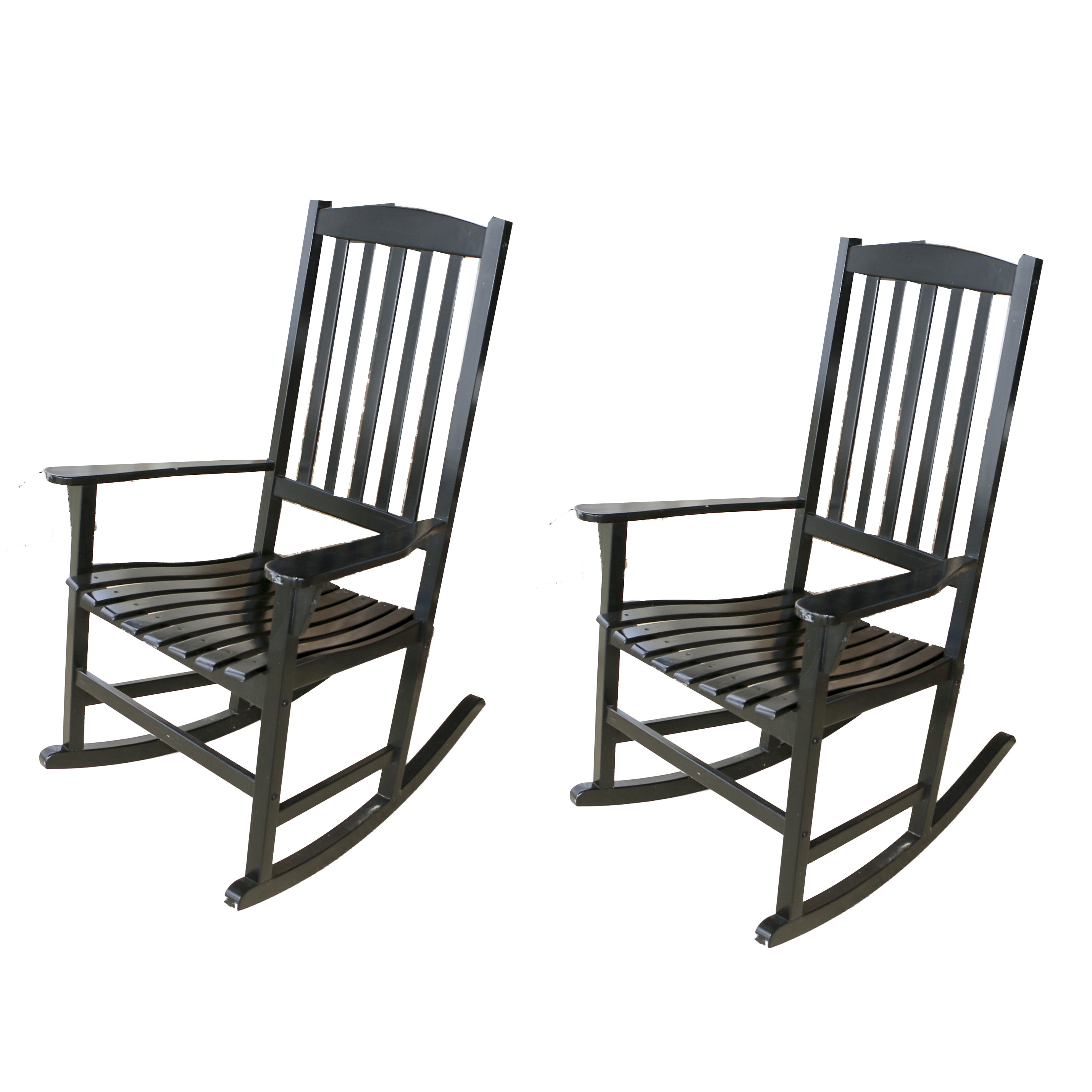 Black Painted Rocking Chairs