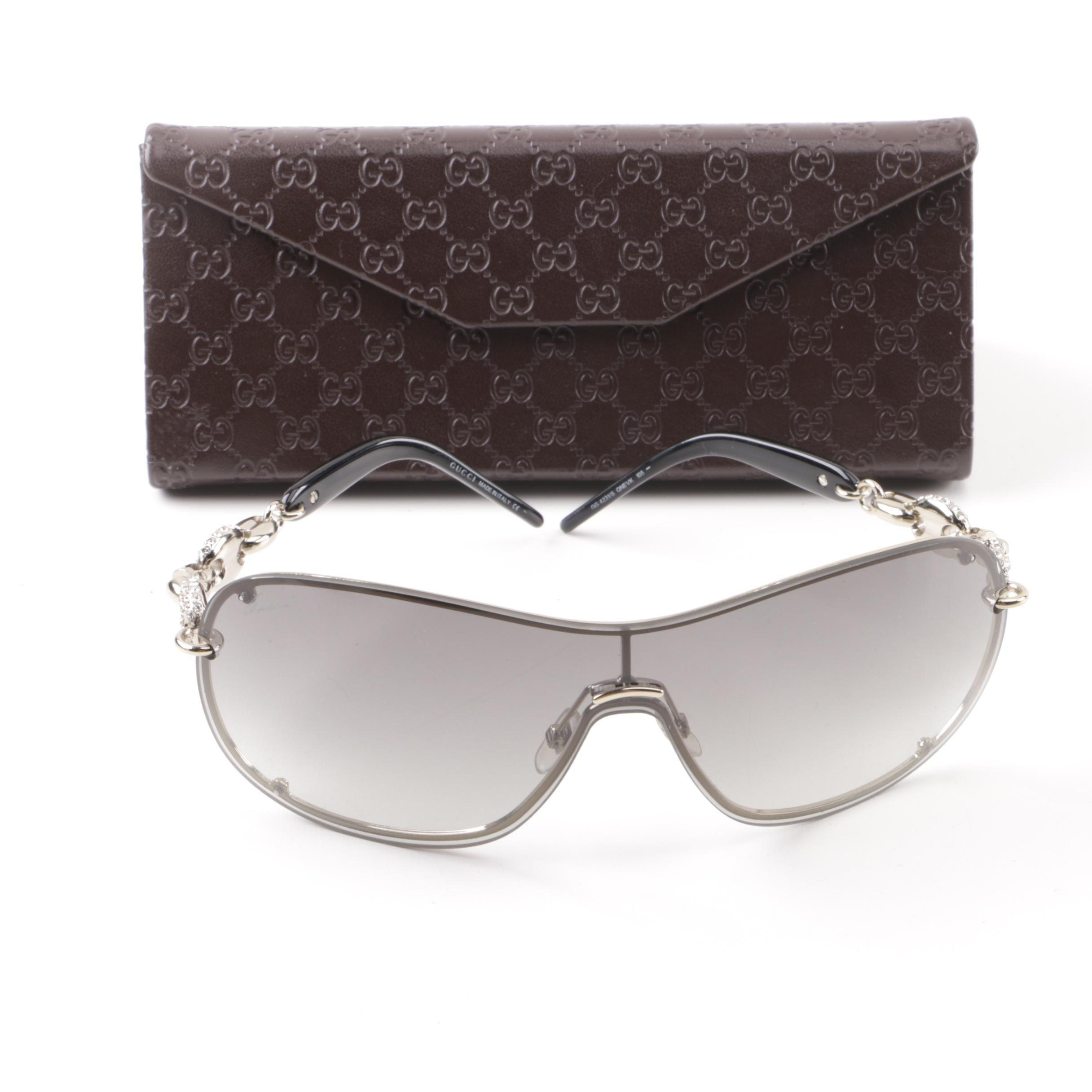 Gucci GG 4231/S Shield Sunglasses with Case