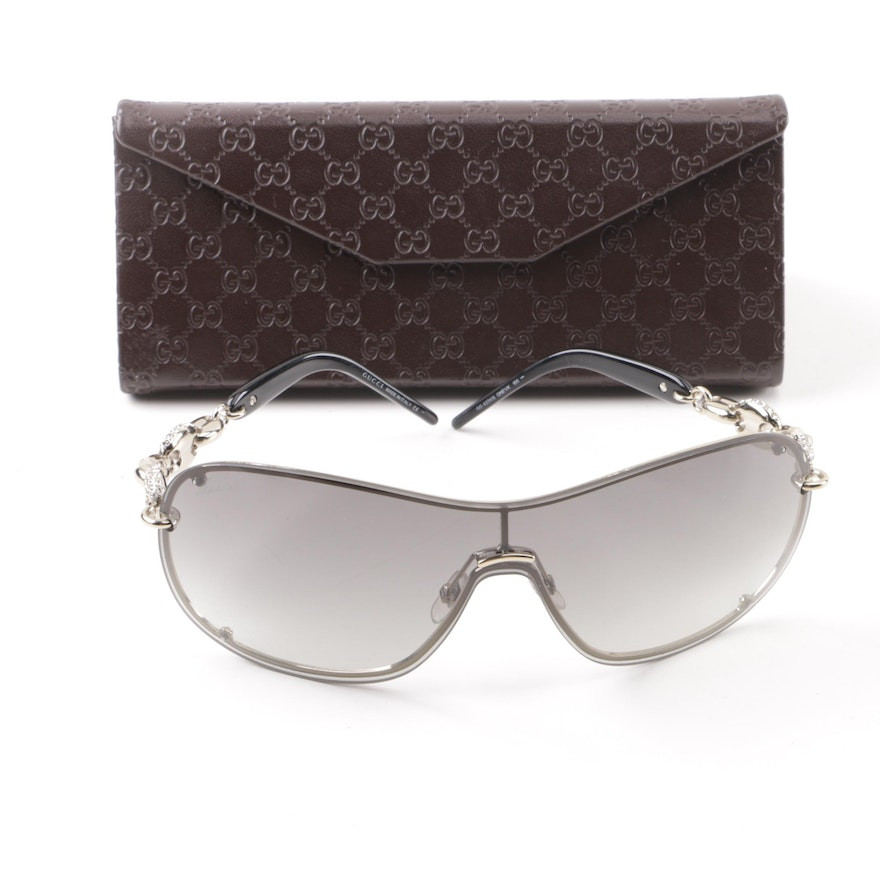 a7de939b884 Gucci GG 4231 S Shield Sunglasses with Case   EBTH