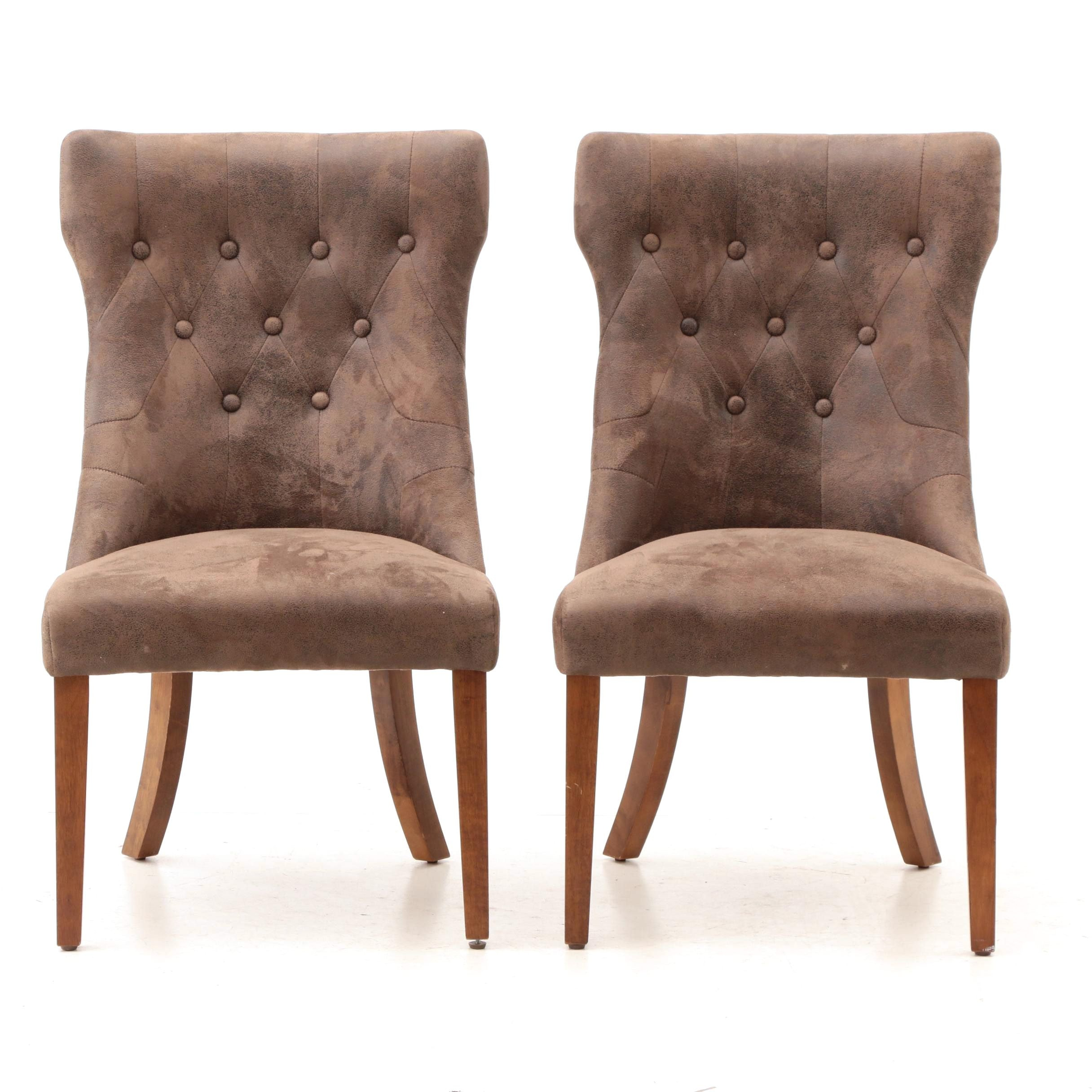 Contemporary Upholstered Accent Chairs in Brown