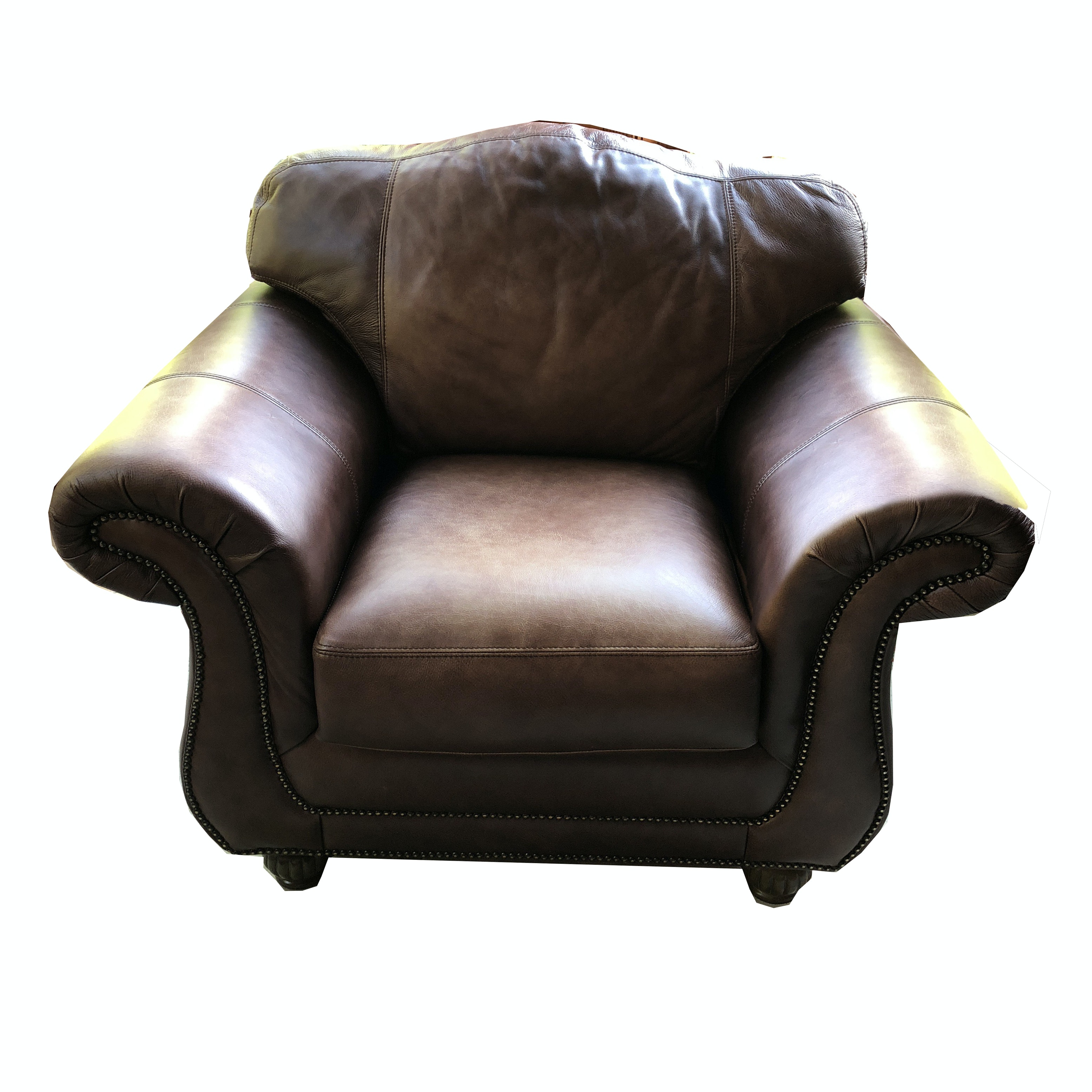 Contemporary Faux Leather Armchair by Providence