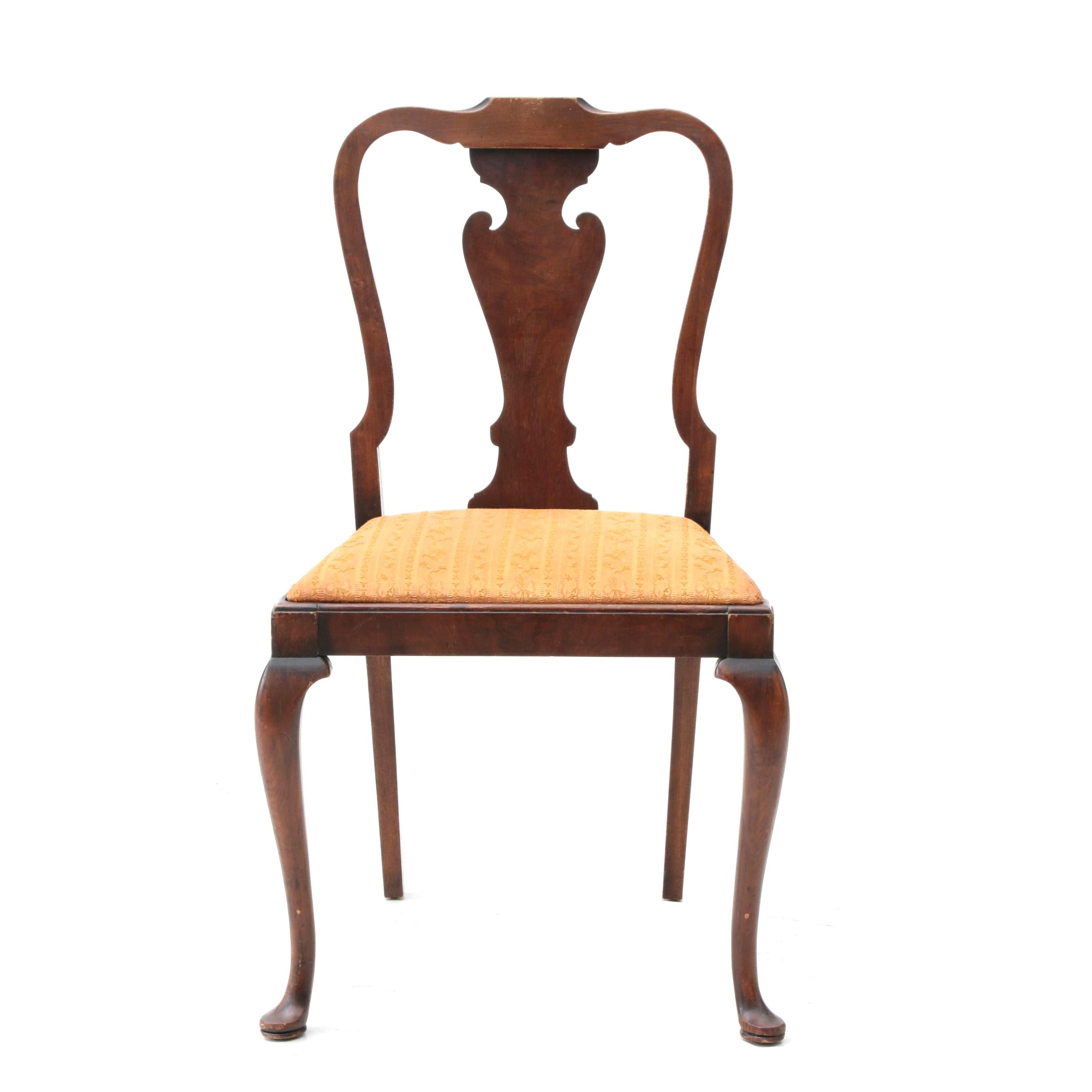 Queen Anne Style Walnut Side Chair