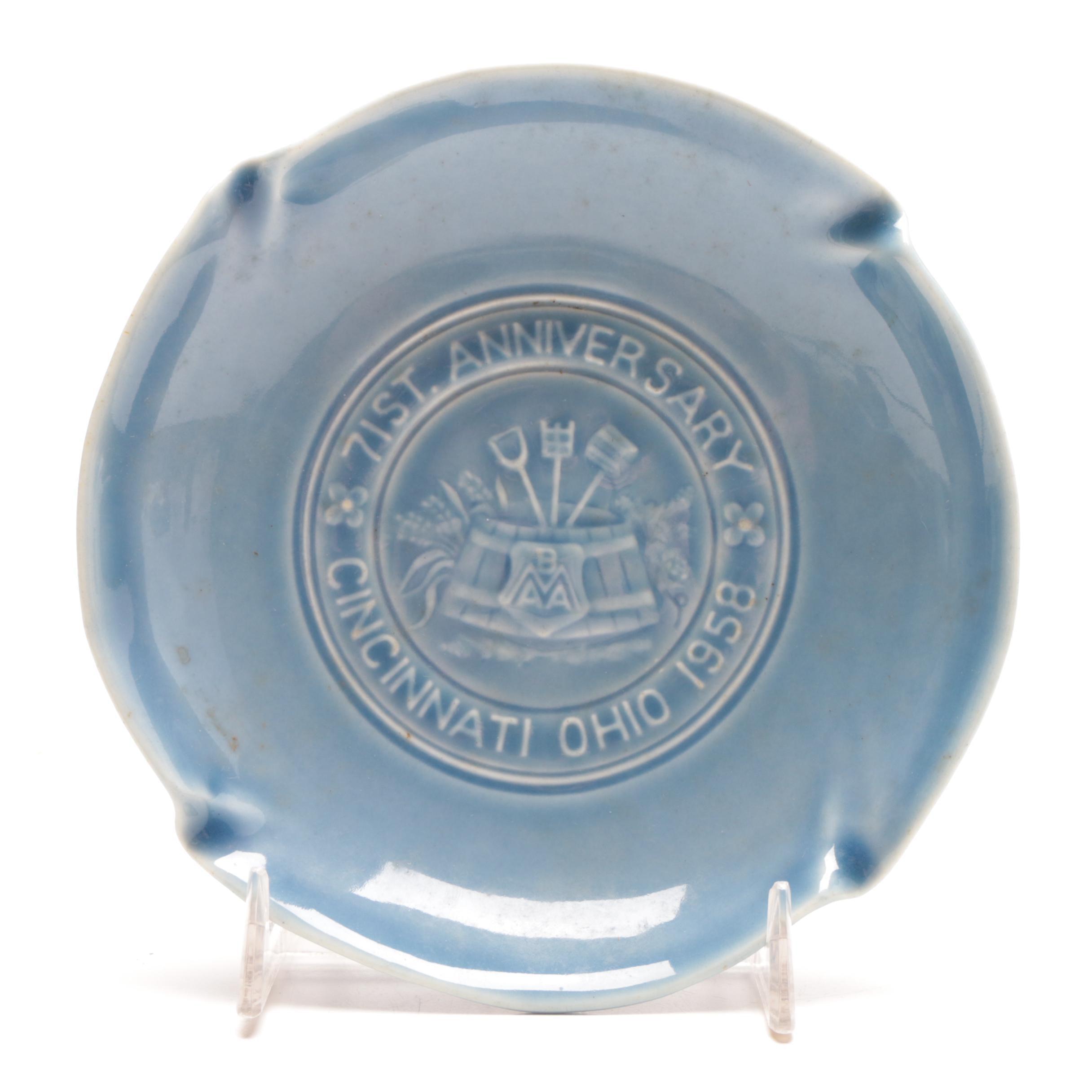 1958 71st Anniversary Rookwood Pottery Dish