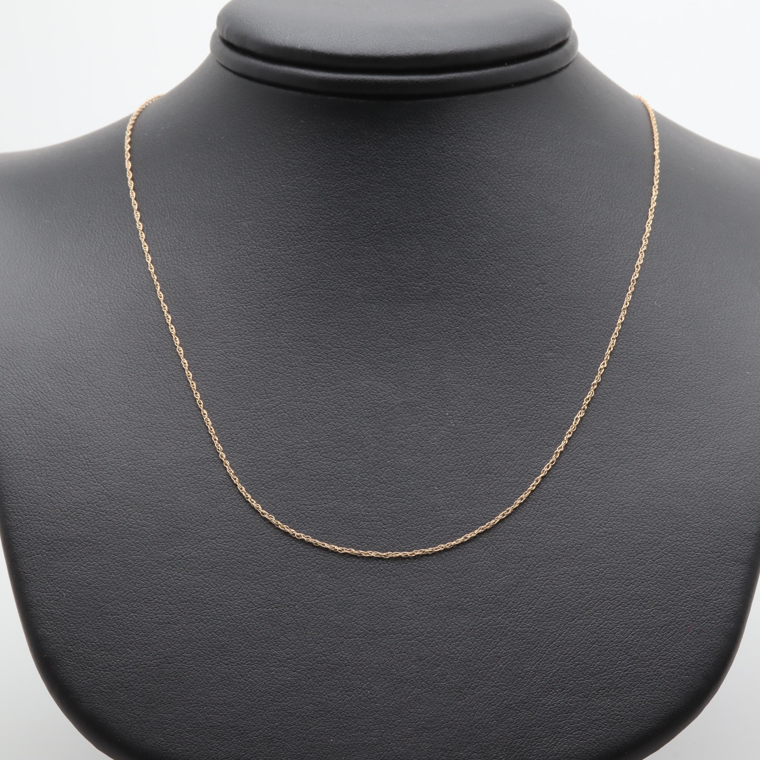 14K Yellow Gold Rope Link Necklace
