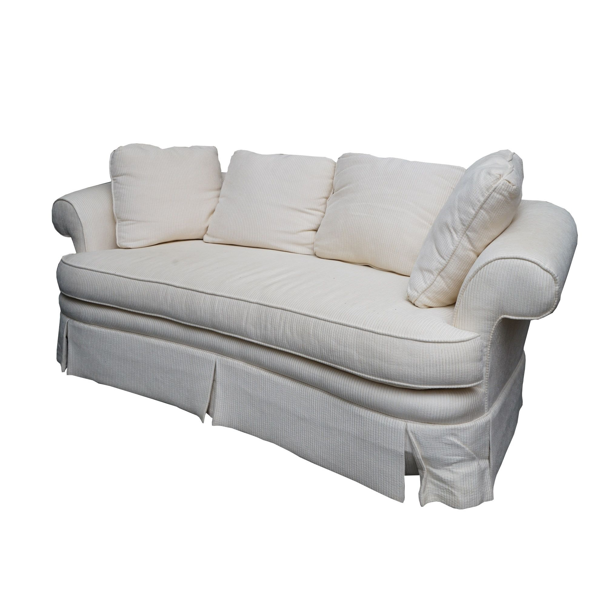 White Upholstered Sofa by Taylor-King