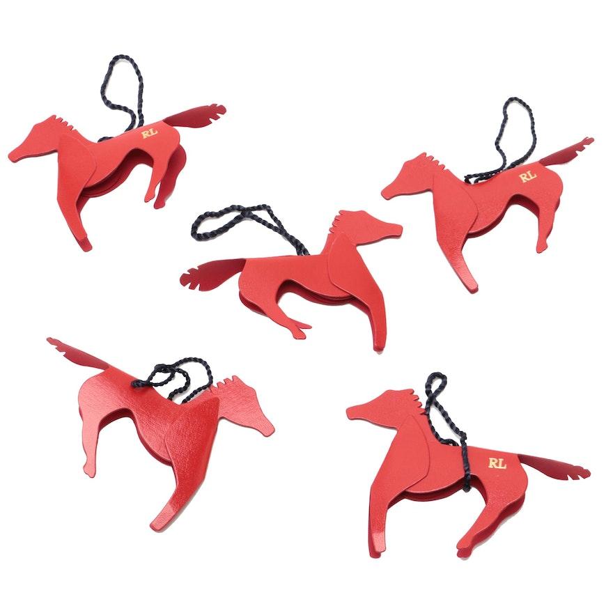 ralph lauren paper horse christmas ornaments - Horse Christmas Ornaments