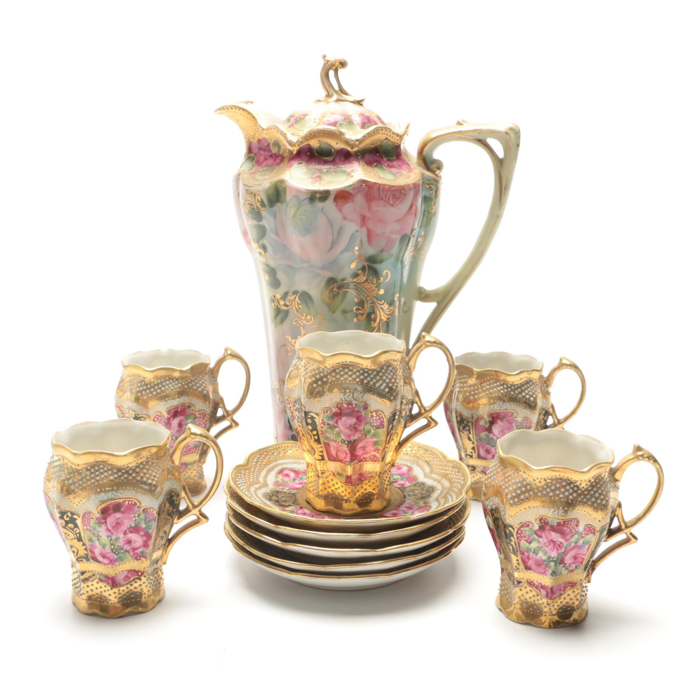 Hand-Painted Nippon Porcelain Serveware