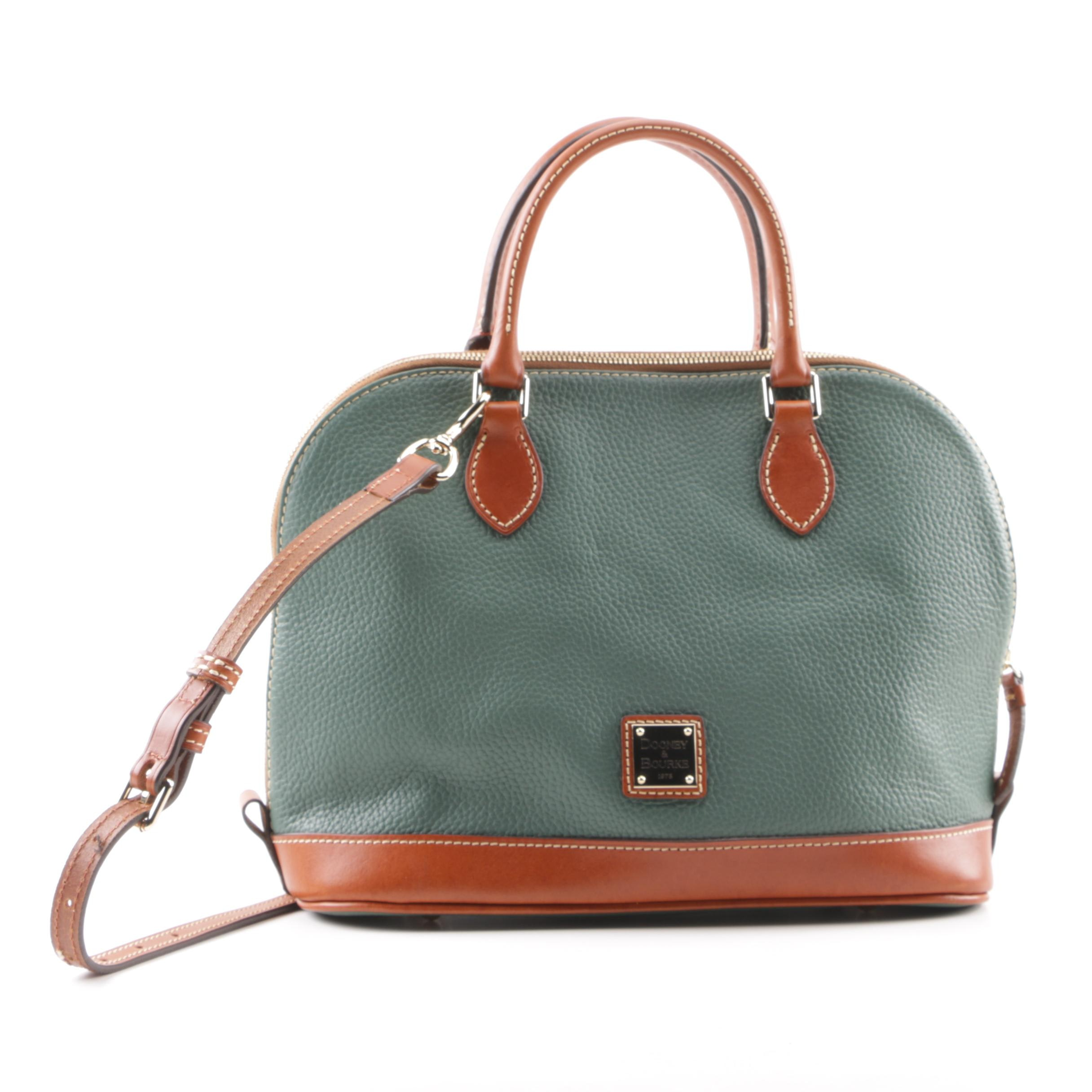 Dooney & Bourke Green All-Weather Leather Satchel