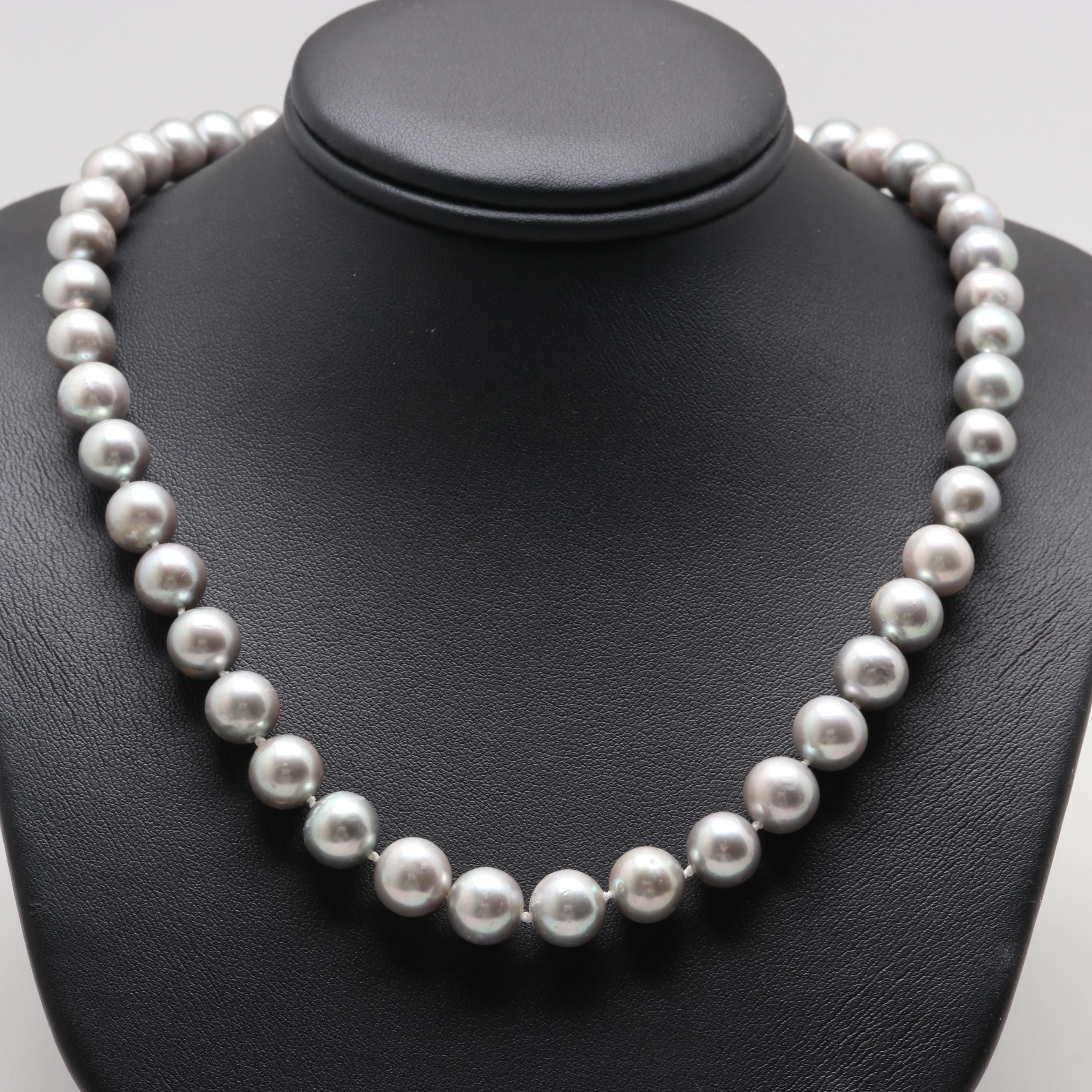 10K Yellow Gold Cultured Pearl Necklace