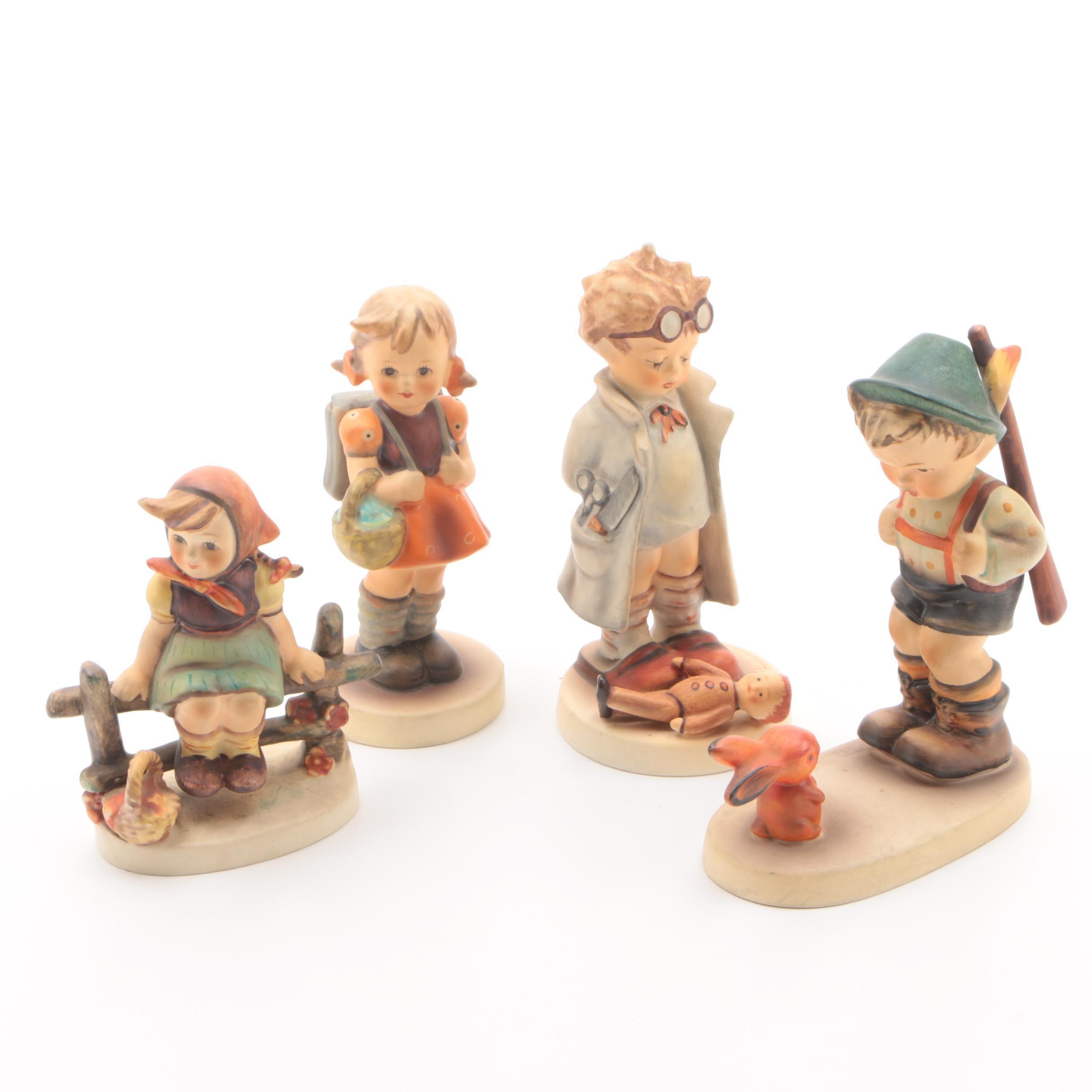 """Vintage Hummel Figurines Including """"Just Resting"""" and """"Doctor"""""""