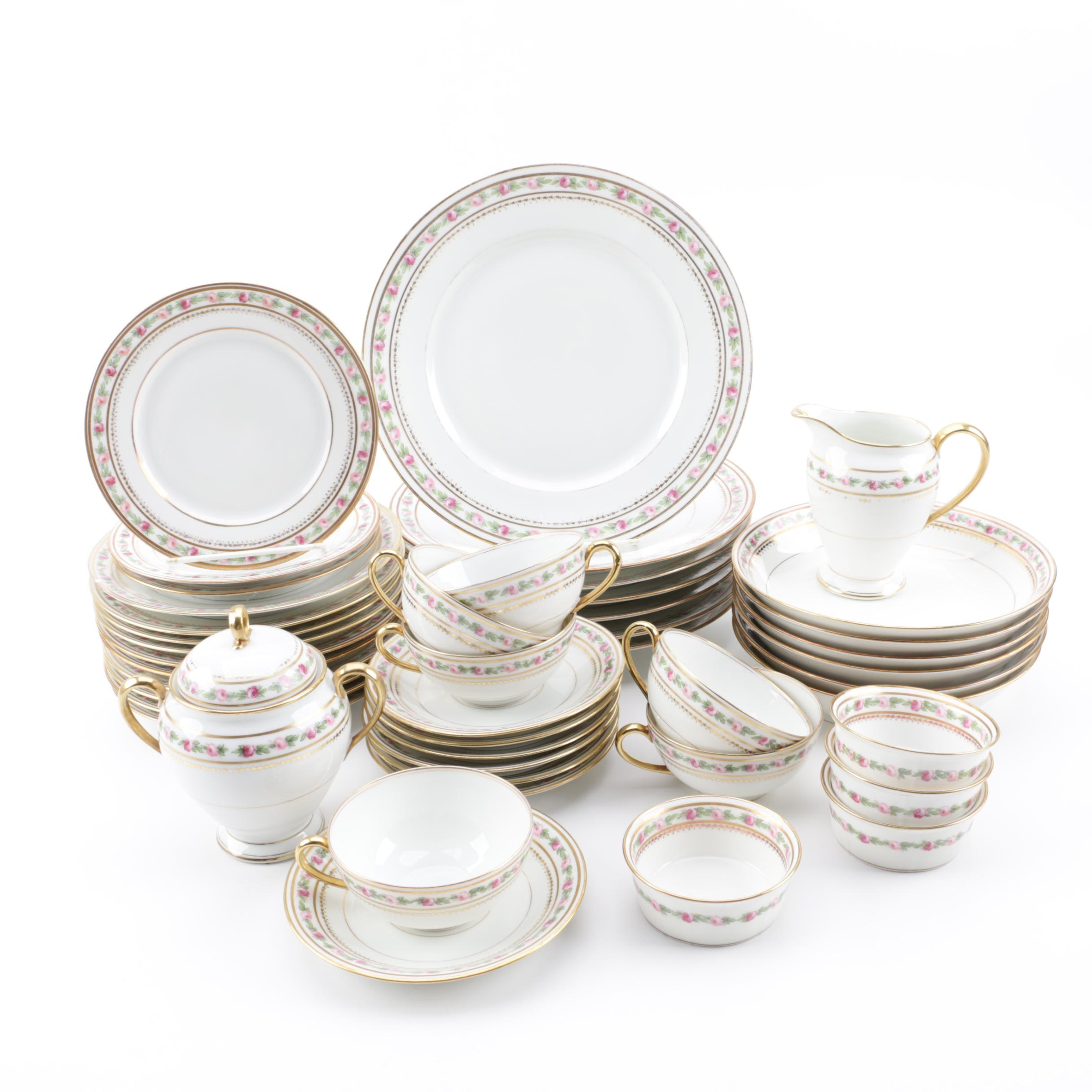 Early 20th Century Bawo & Dotter Elite Works Limoges Porcelain Dinnerware