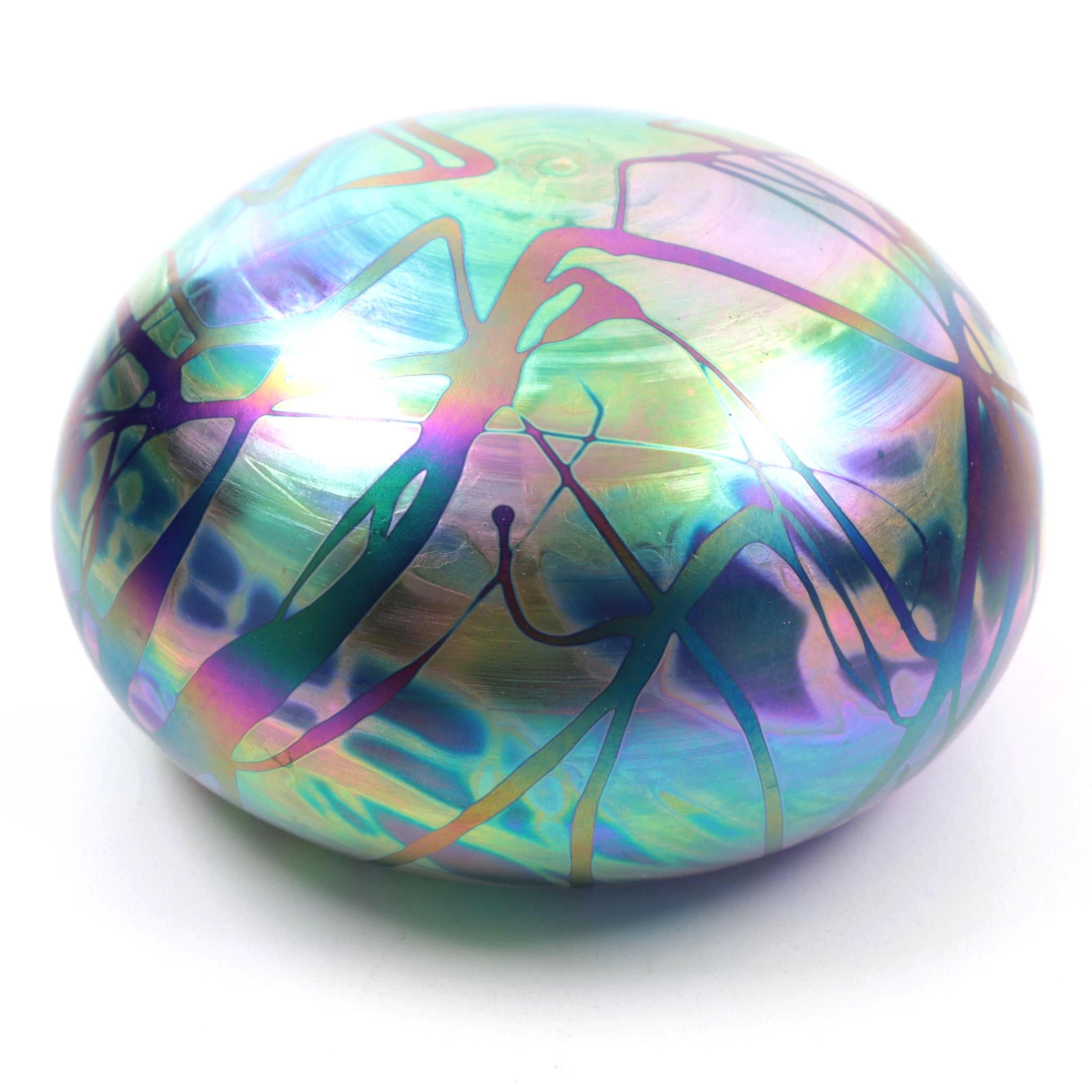 Intaglio Anton Art Glass Paperweight