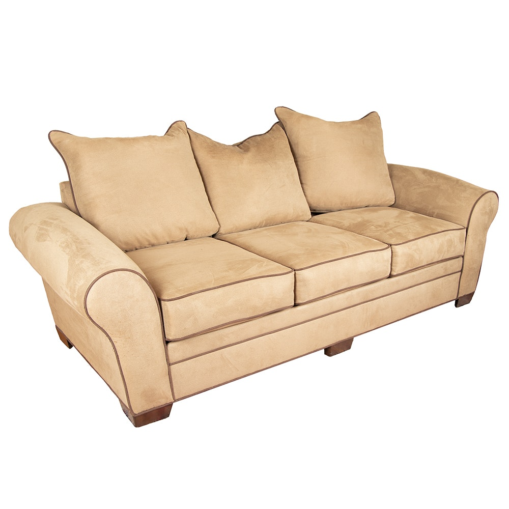 Contemporary Brown Upholstered Sofa by Kroehler