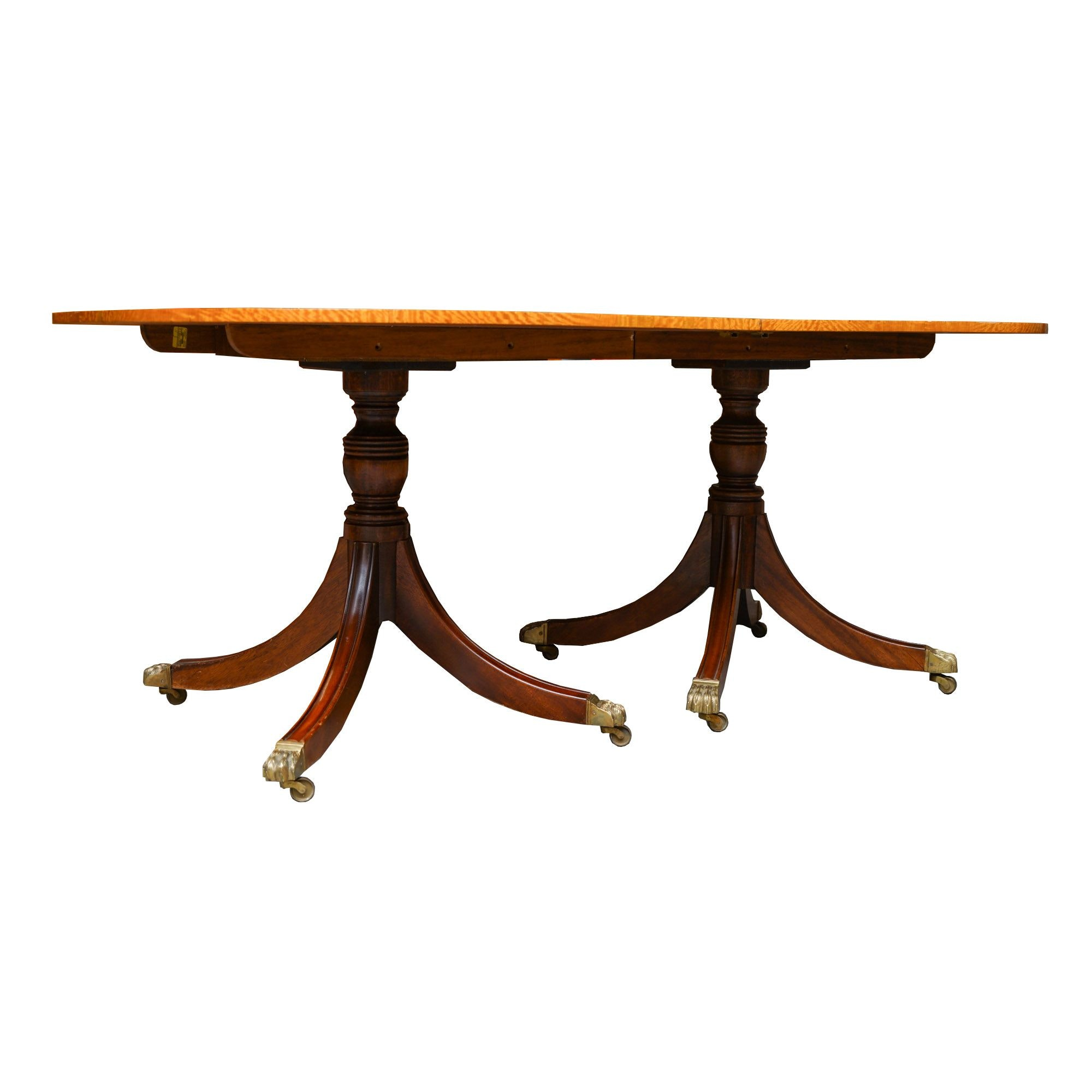 Mahogany Federal Style Dining Table with Leaf