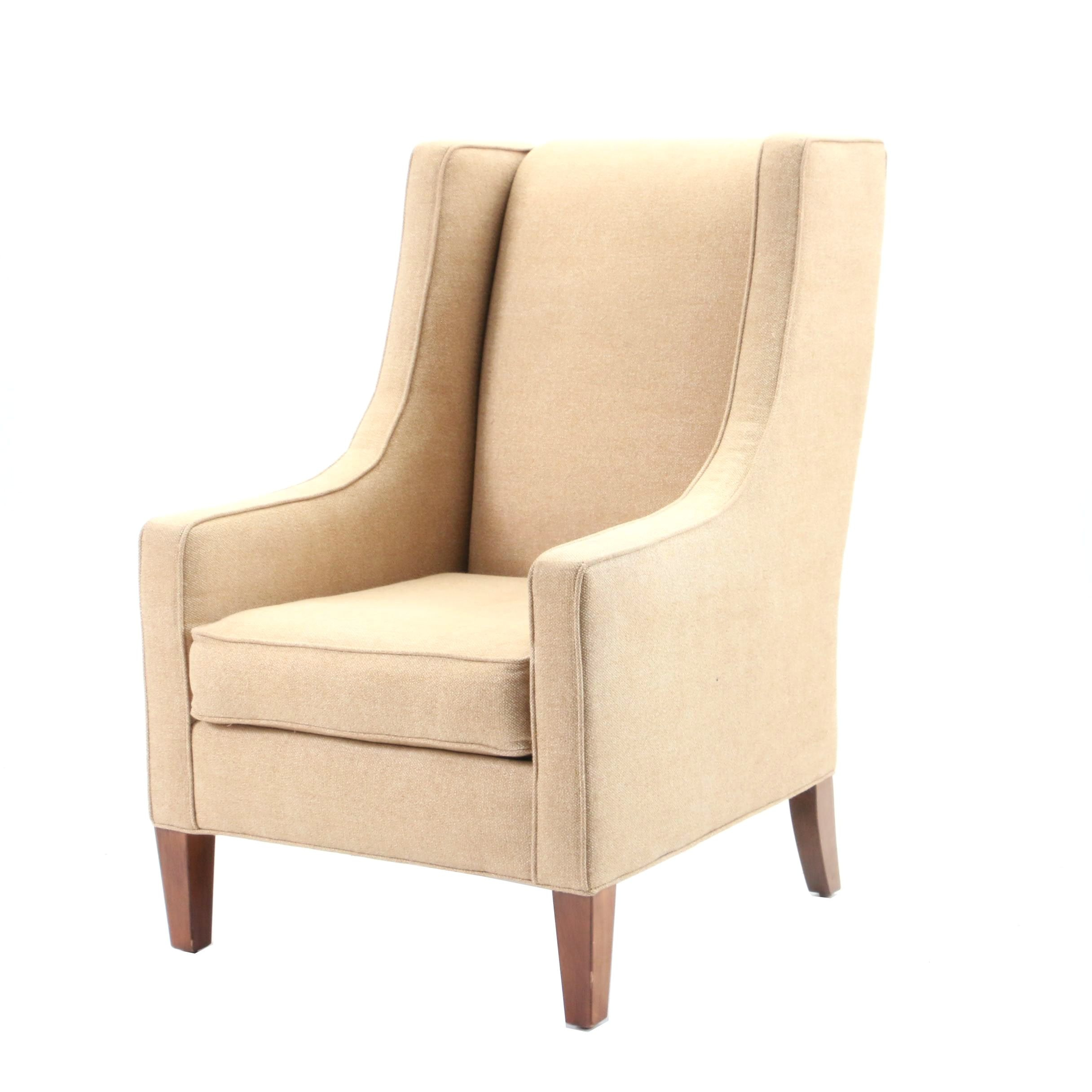 Tan Upholstered Armchair