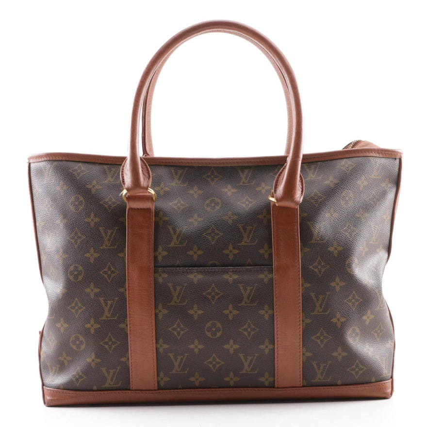 4662c6e3e7bb 1996 Vintage Louis Vuitton Paris Weekender Sac Monogram Canvas Tote ...