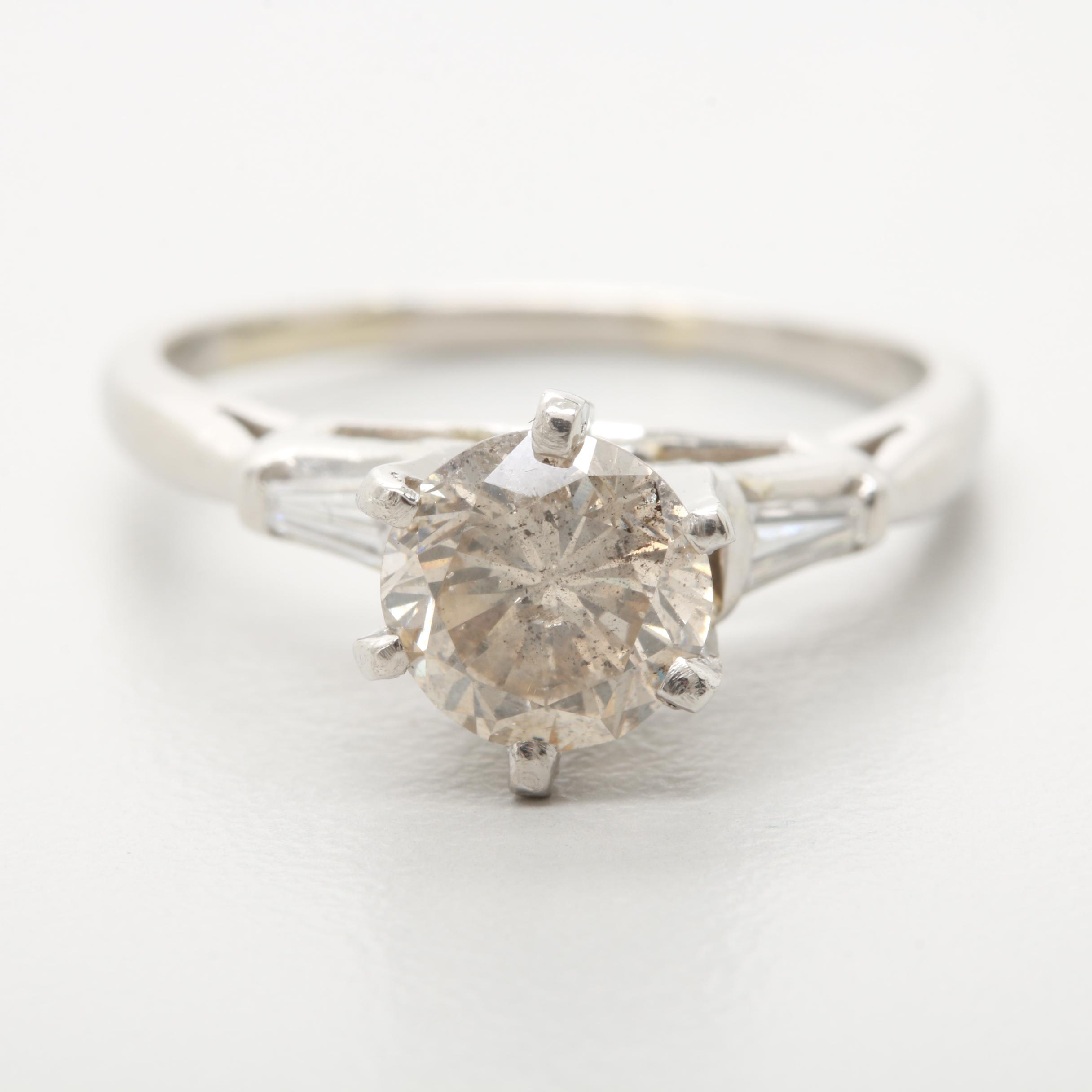 Platinum 1.24 CTW Diamond Ring