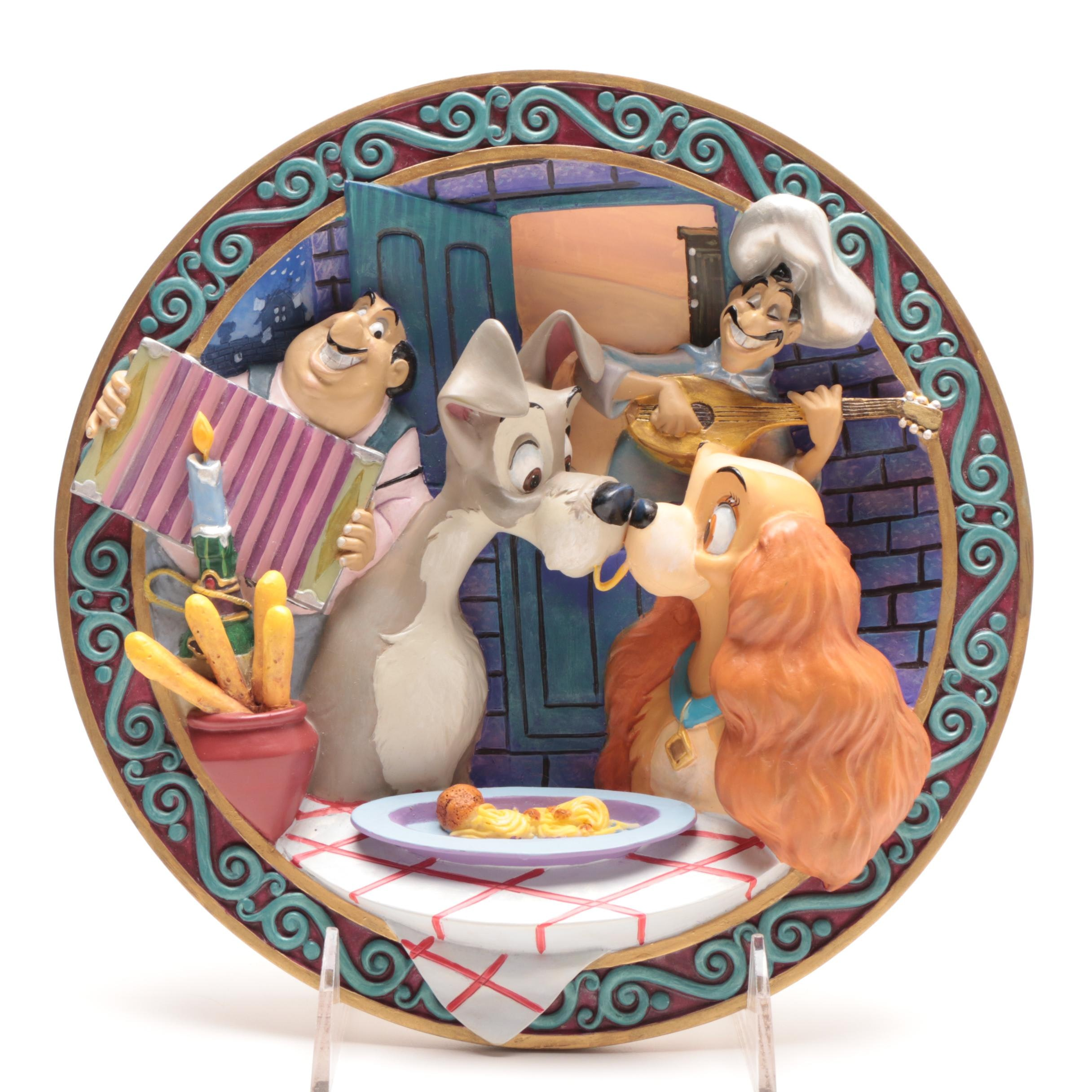 """Disney """"Lady and the Tramp"""" Dimensional Collectors Plate"""