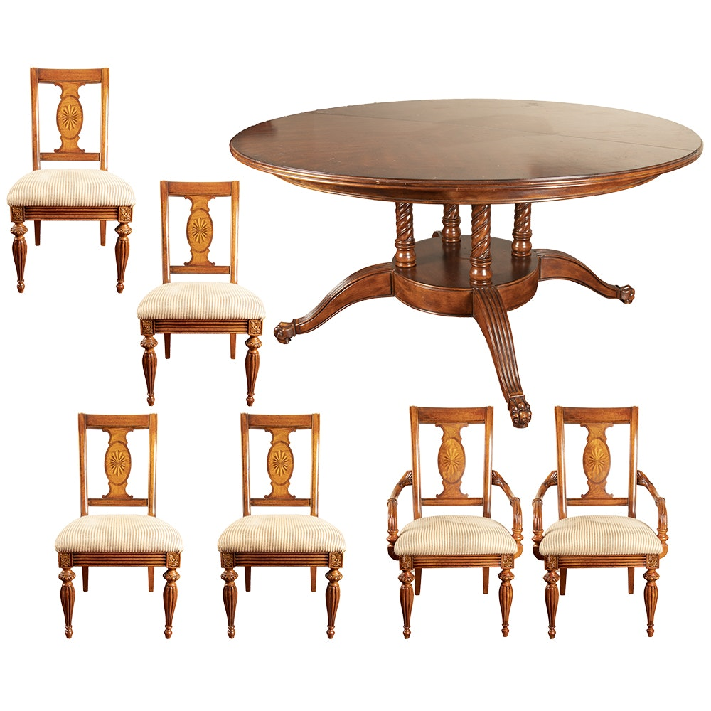Regency Style Dining Table and Dining Chairs by Domain, 21st Century
