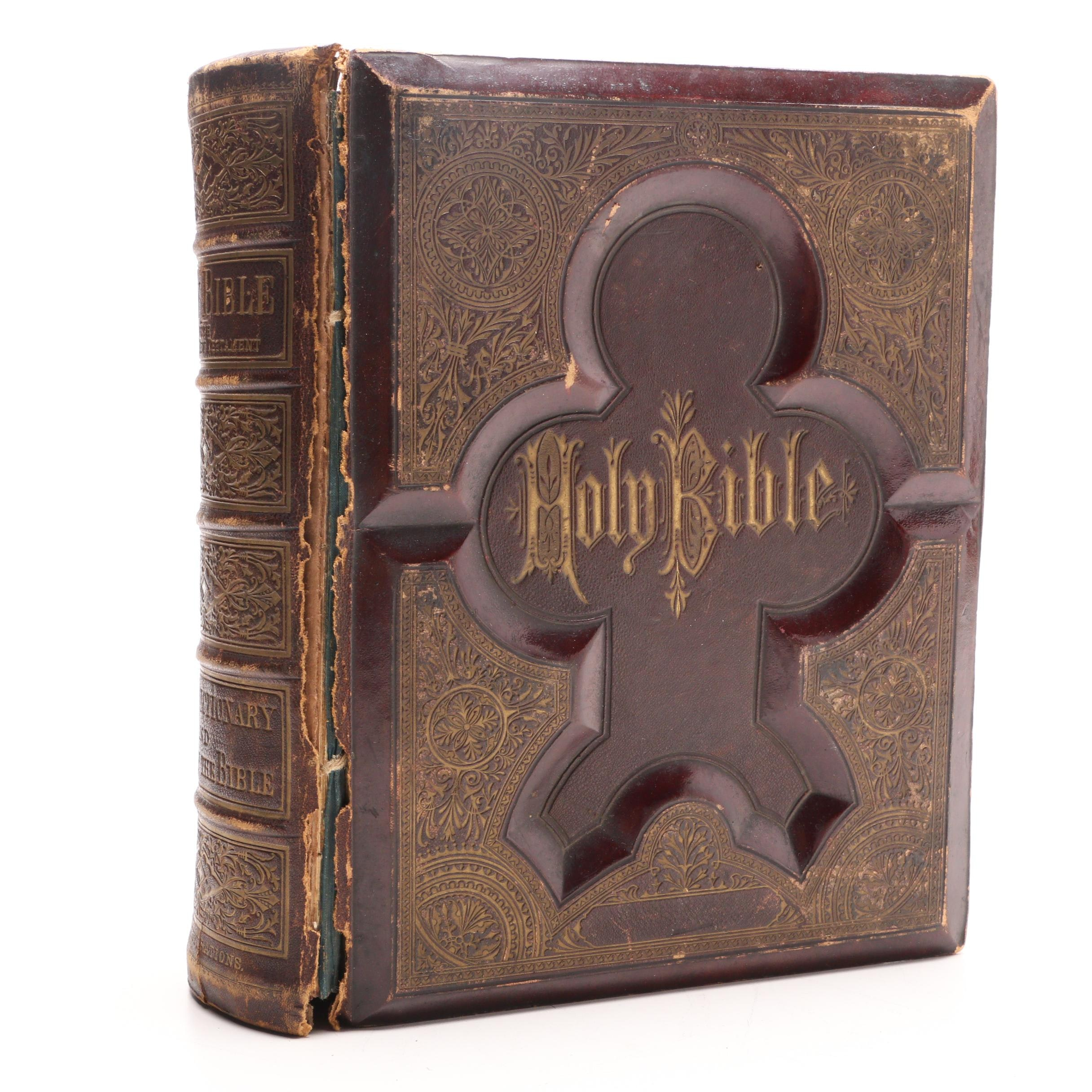 1877 Embossed Leather Bound Bible