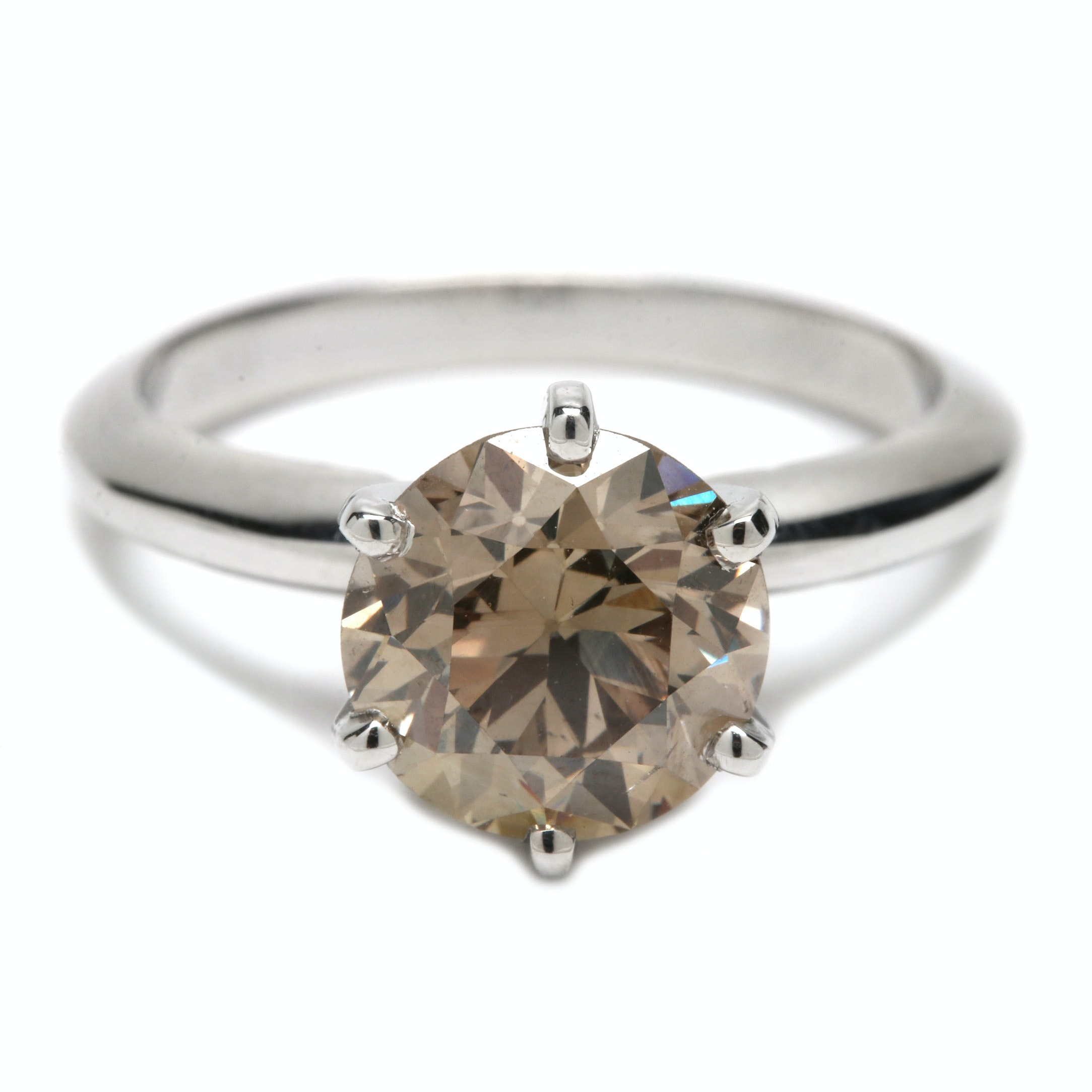 14K White Gold 2.35 CT Diamond Solitaire Ring