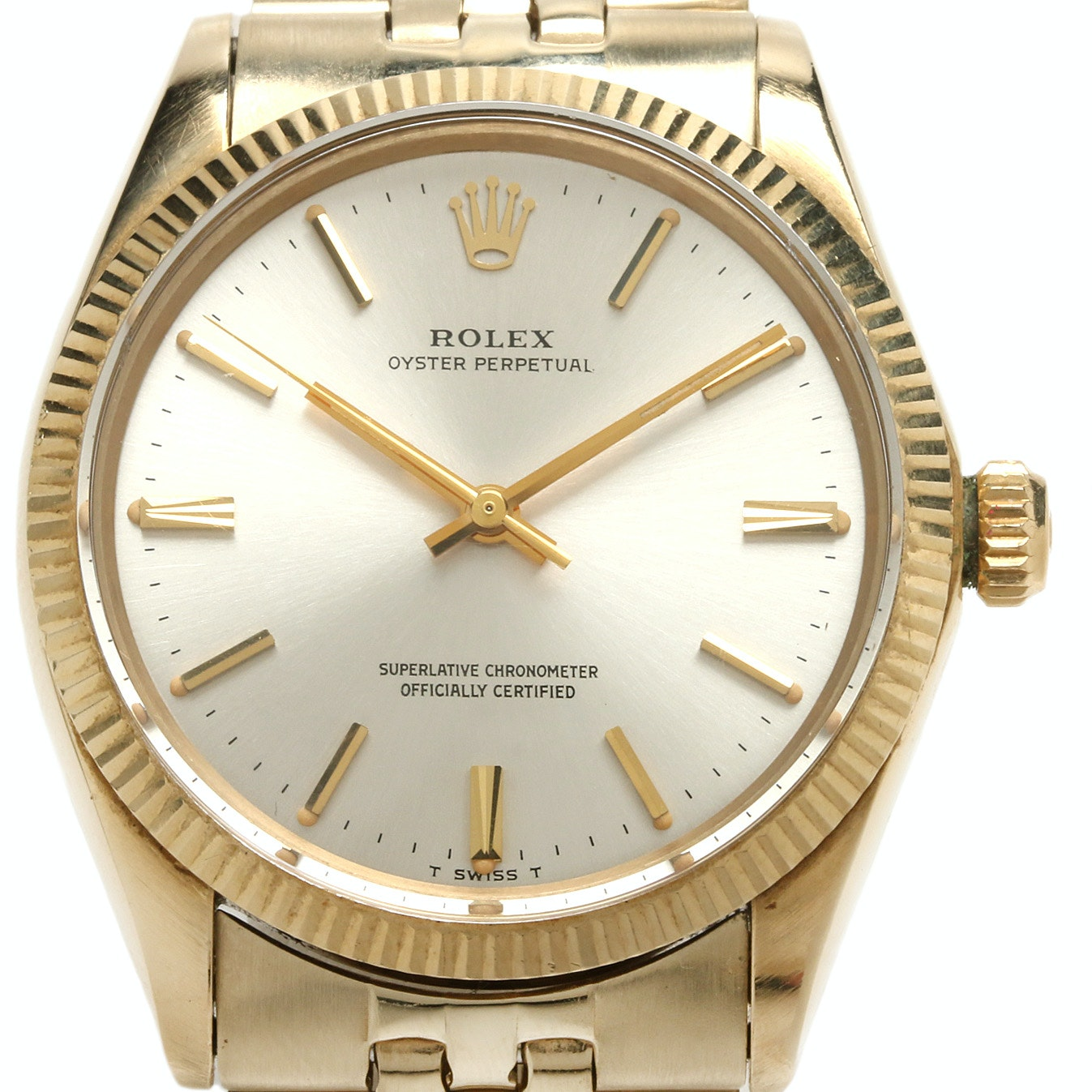 1969 Rolex Oyster Perpetual 14K Yellow Gold Automatic Wristwatch