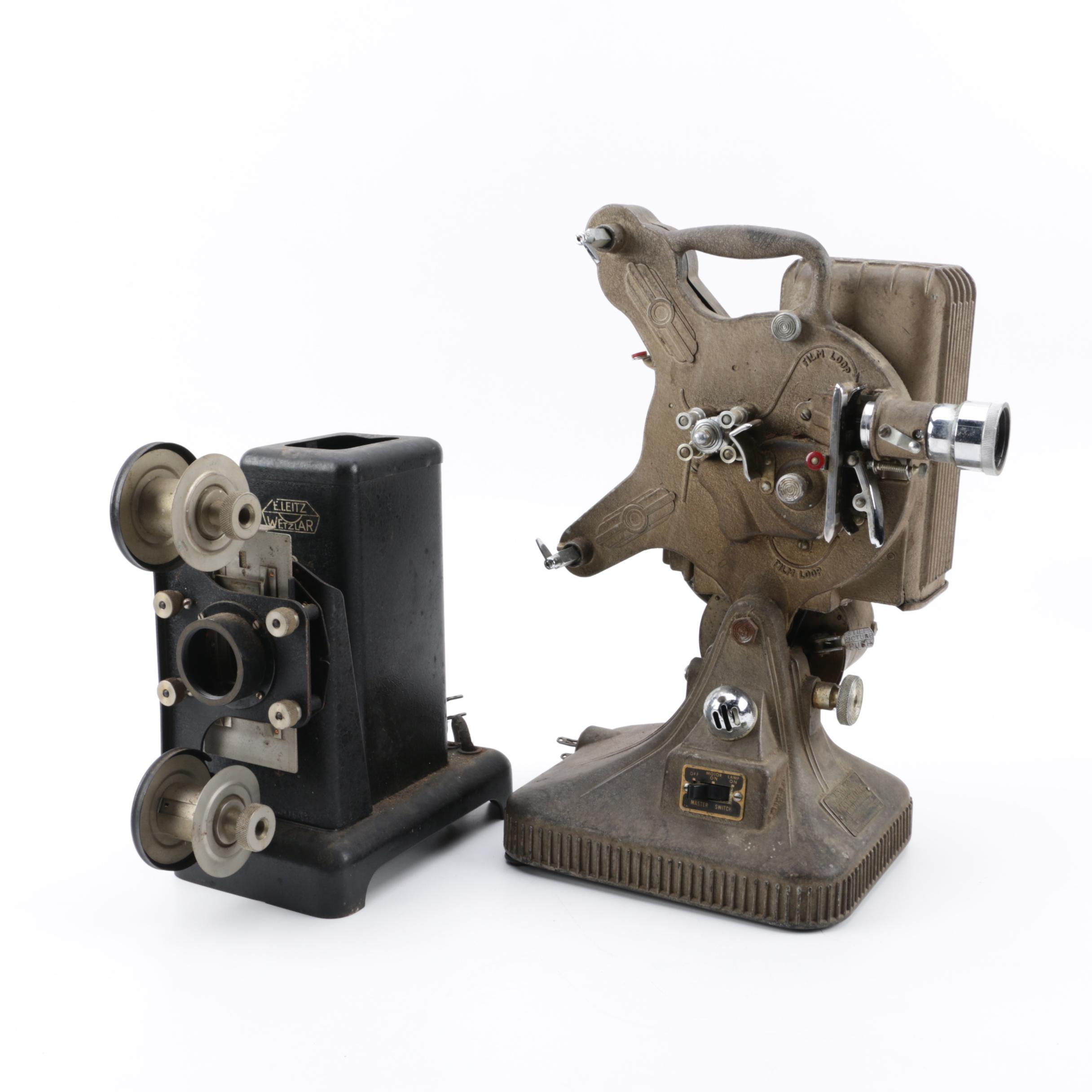 Vintage Keystone K-160 16mm Film Projector and 1930s E. Leitz Wetzlar Projector