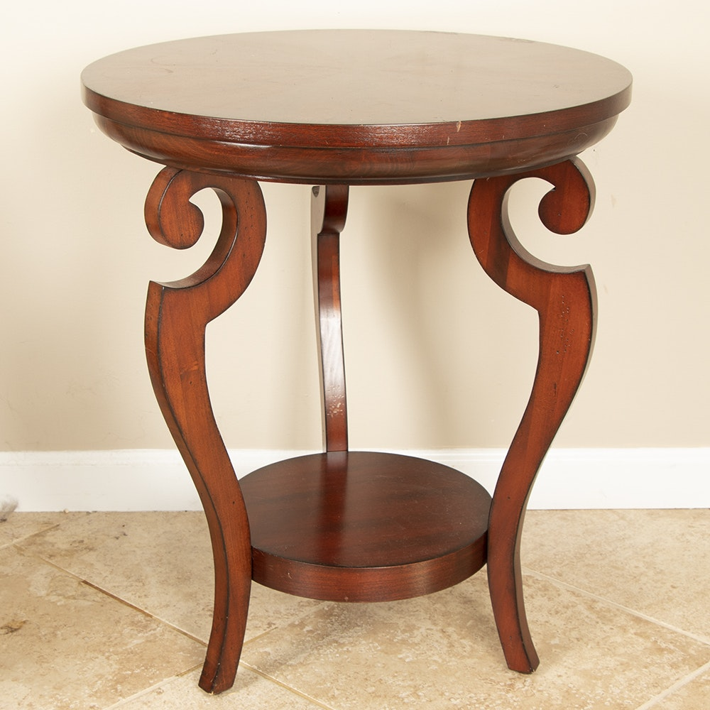 Contemporary Cherry Finish Occasional Table by Uttermost