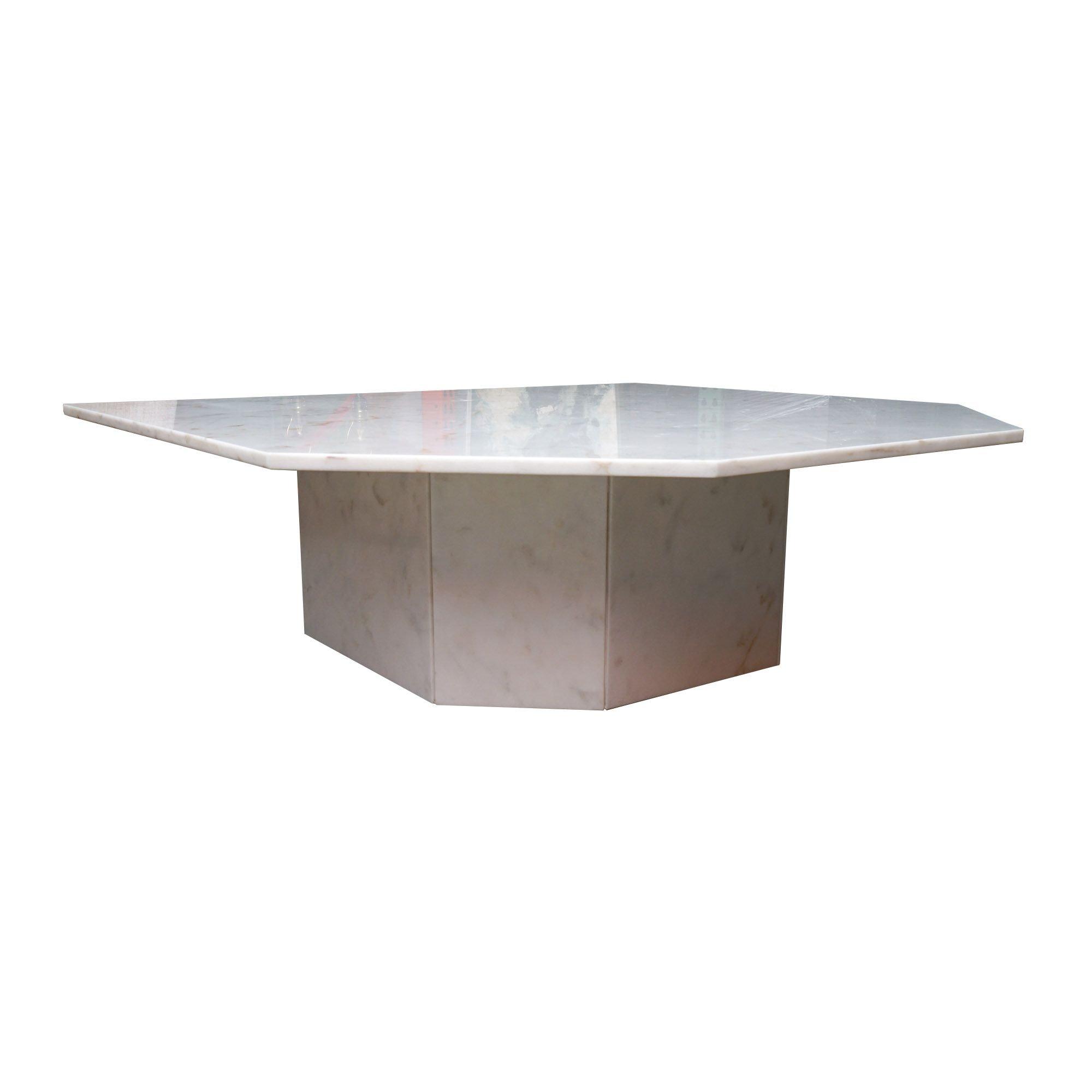 White Stone Cocktail Table