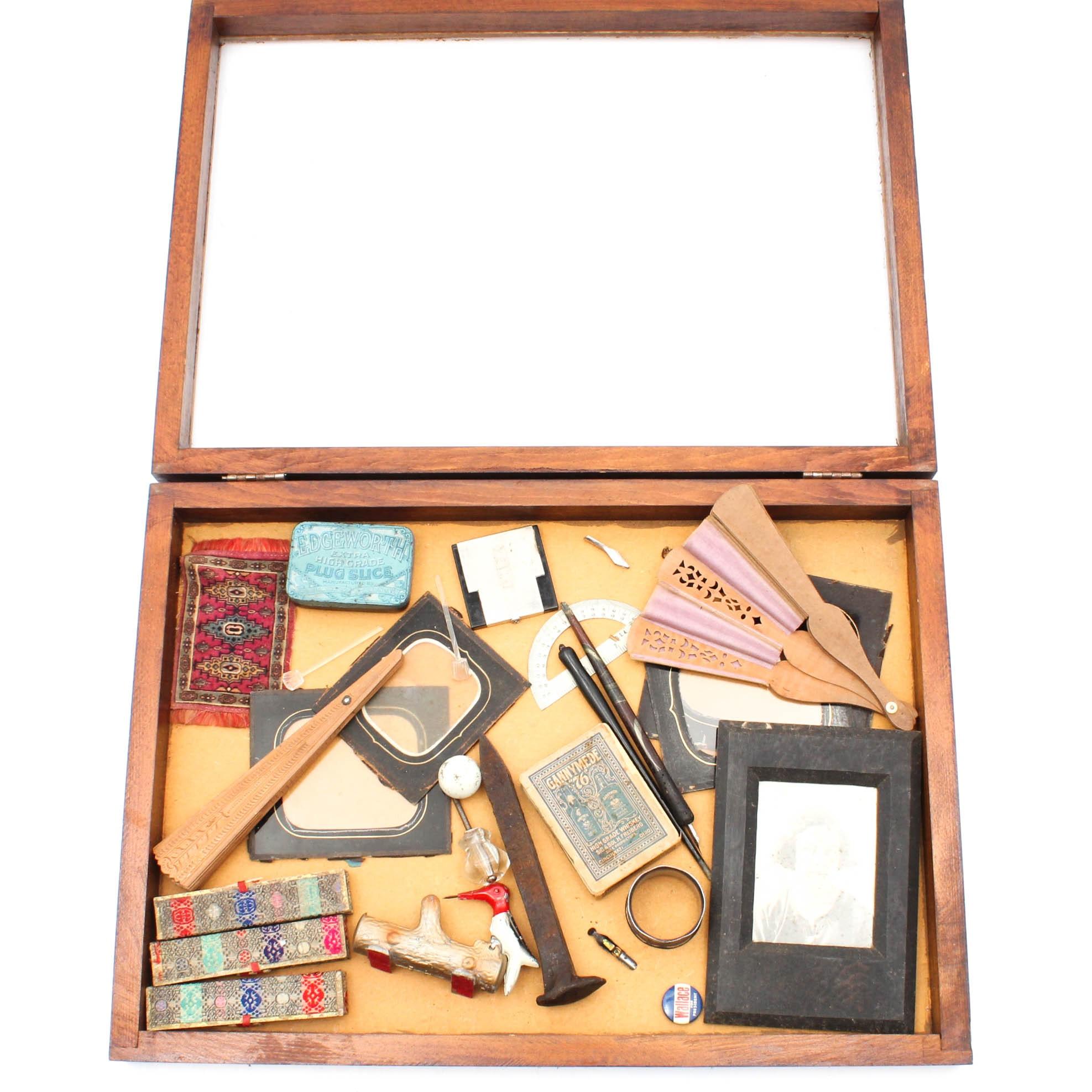 Antique Cabinet of Curiosities