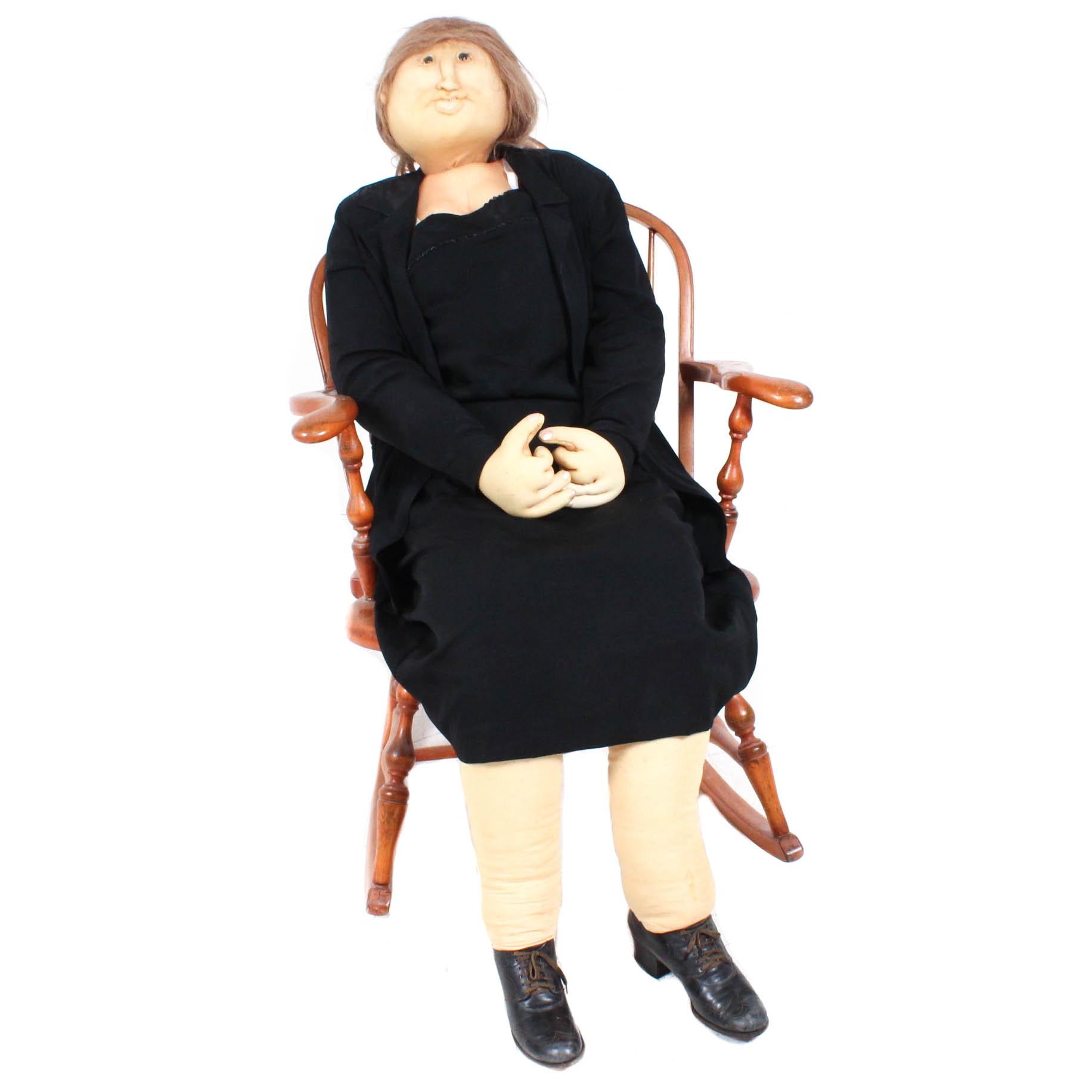 Life Size Soft Sculpture Grandma in Rocker