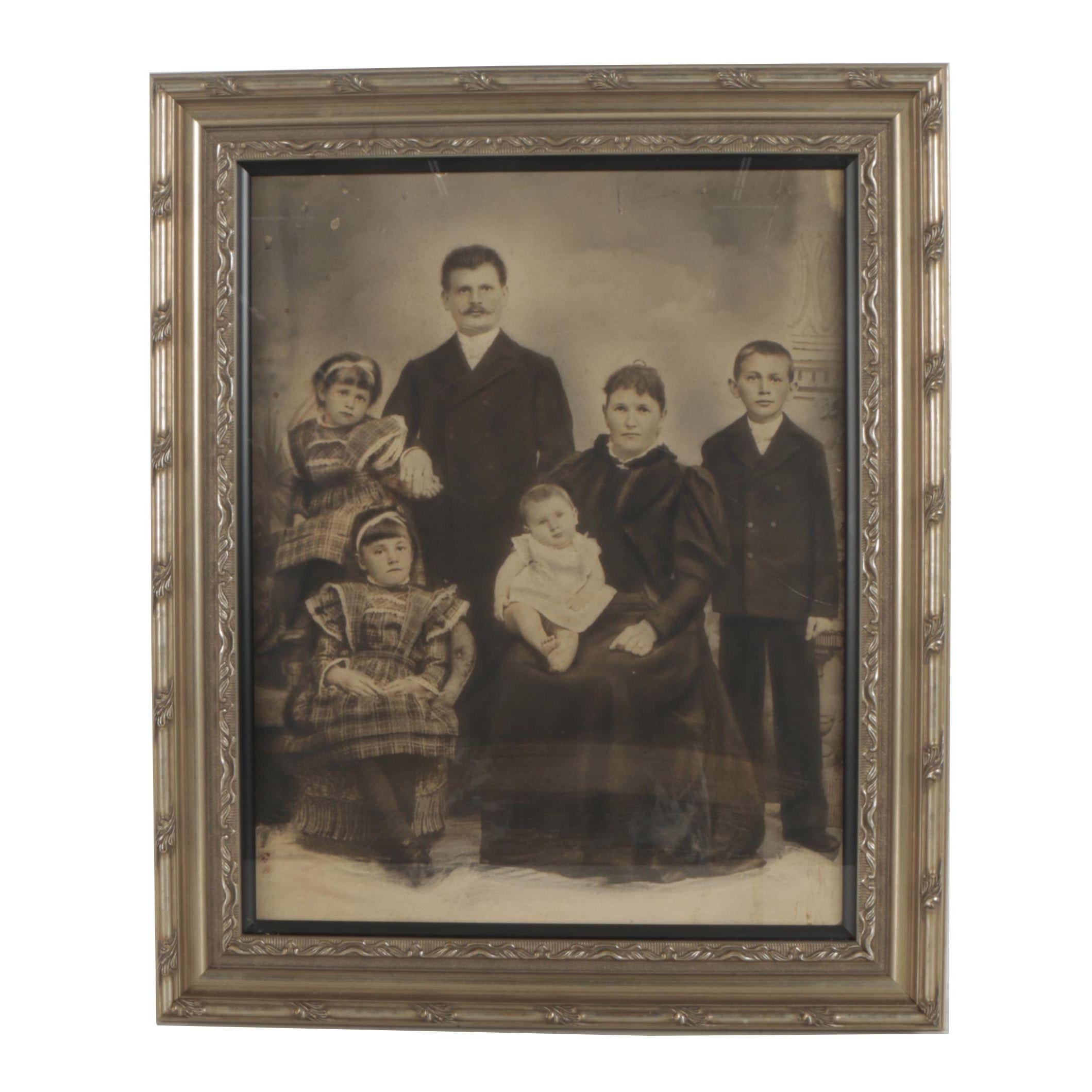 Antique Crayon Family Portrait