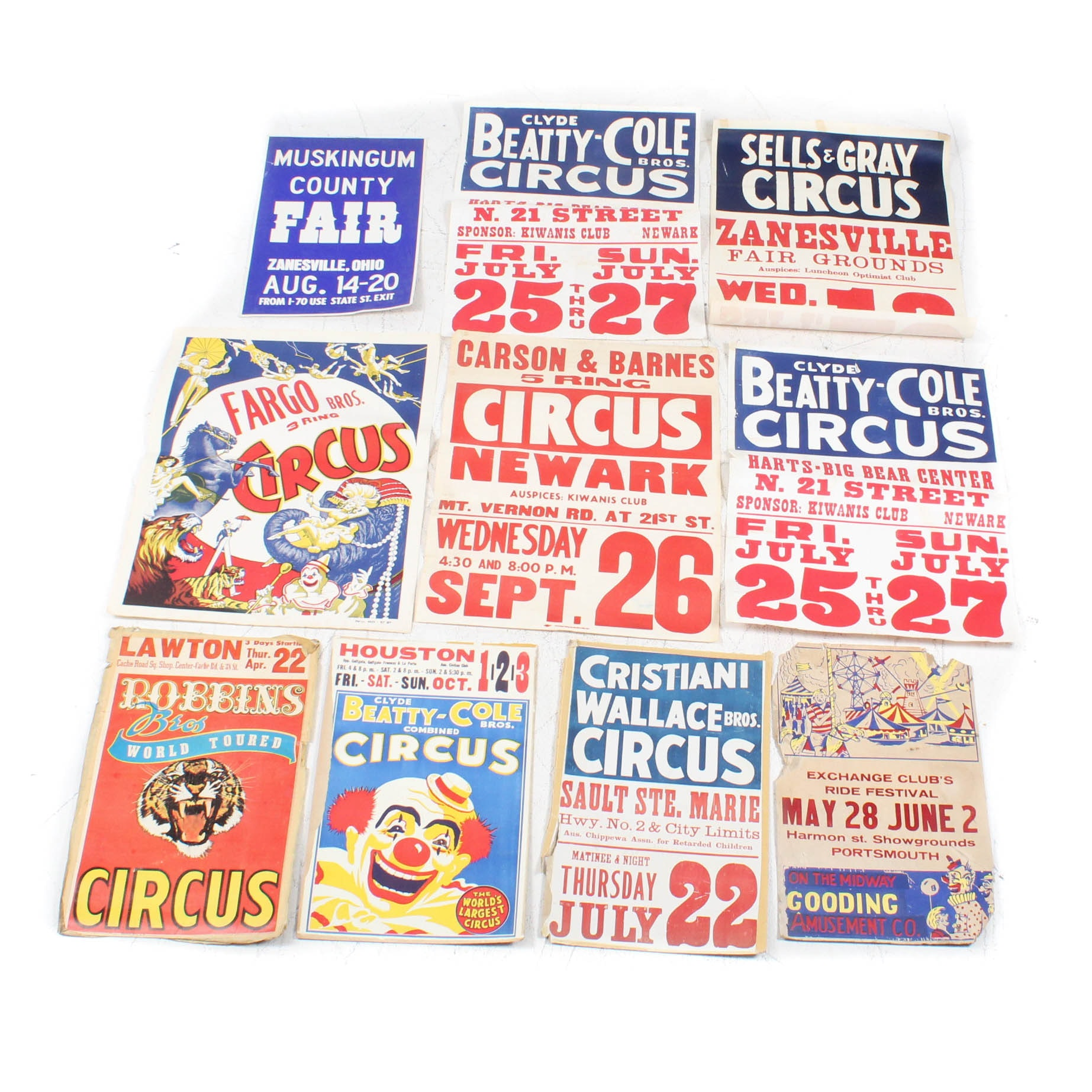 Vintage Circus and Fair Posters