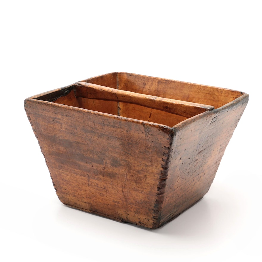 Antique Chinese Style Rice Bucket