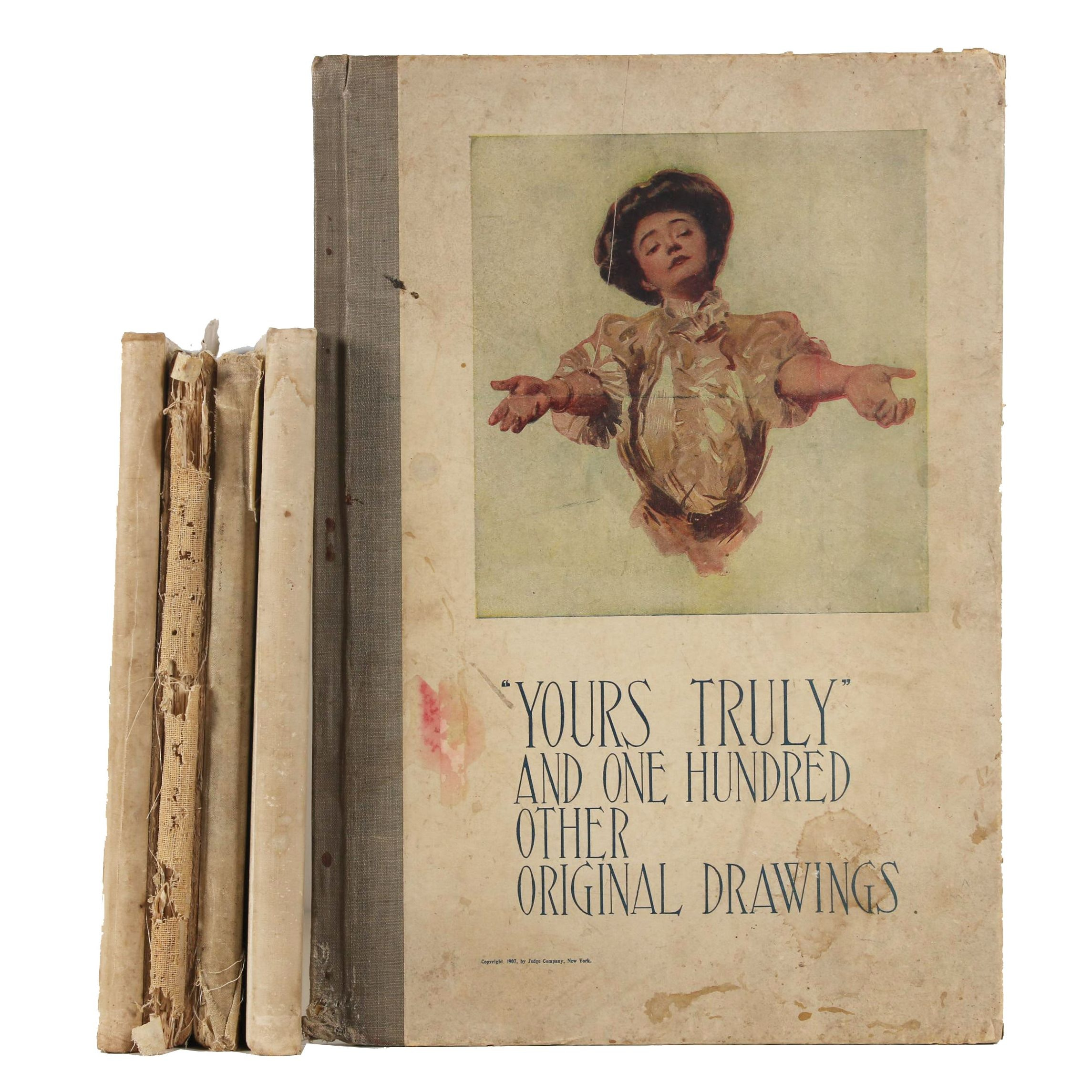 """1911 """"Yours Truly"""" and Books featuring Charles Dana Gibson's Illustrations"""
