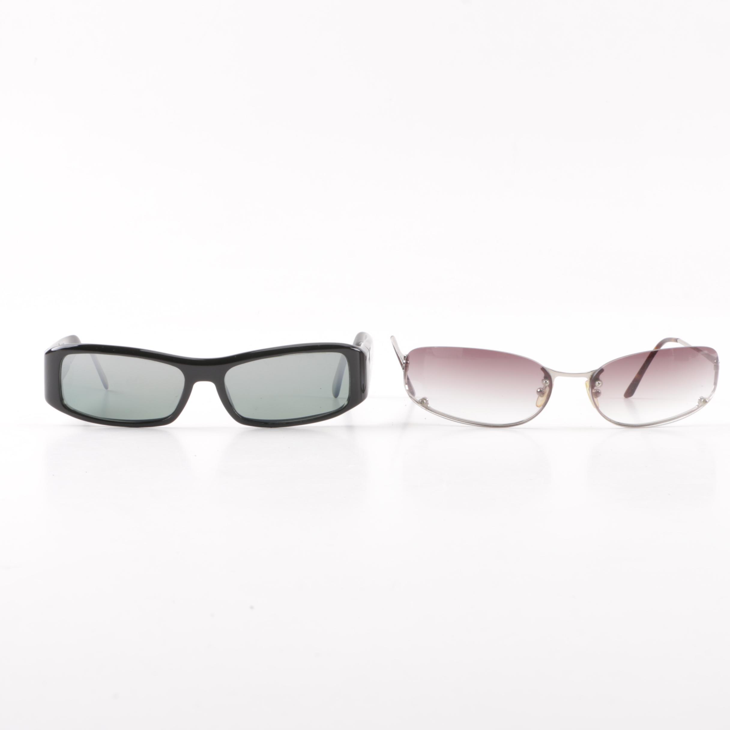 Prada SPR02E and SPR50D Sunglasses with Case