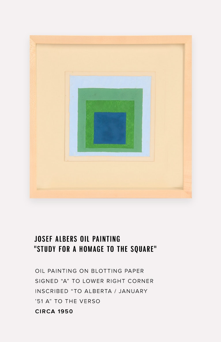 Seller Story: A Josef Albers Painting from the Paul Chidlaw Estate
