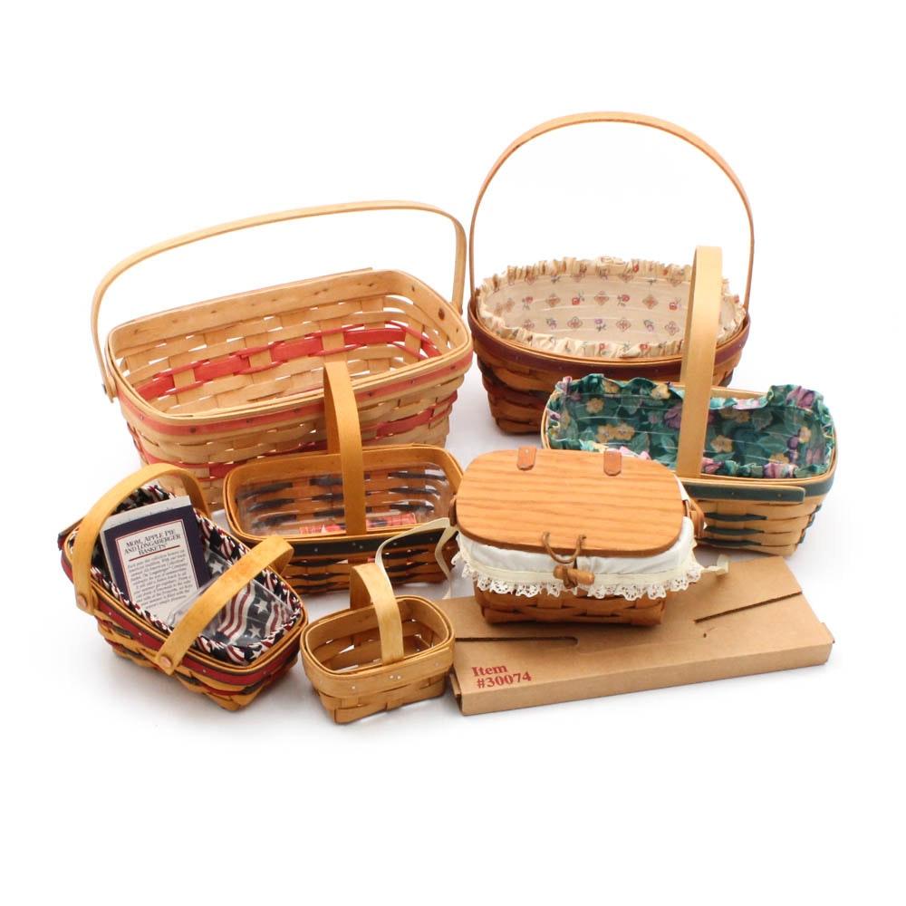 Longaberger Baskets with Bread Basket Brick