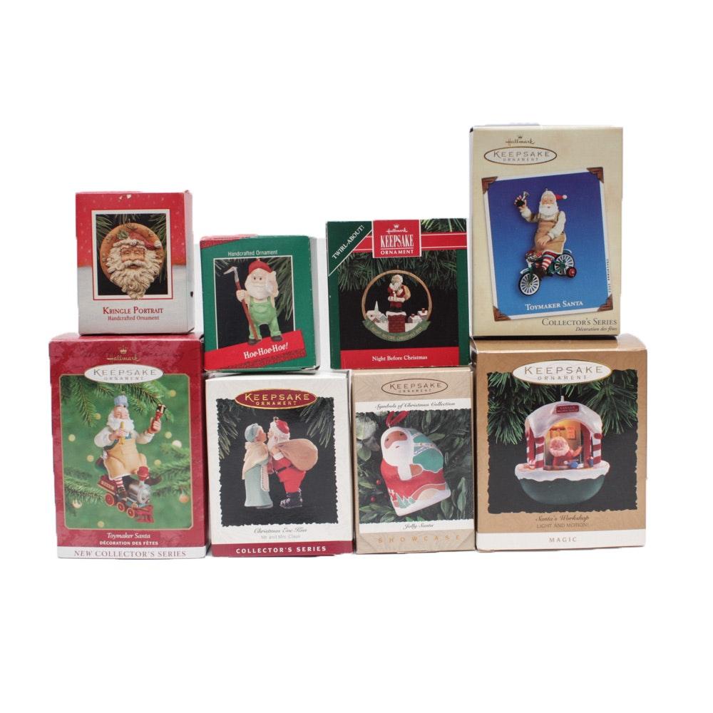 "Hallmark ""Keepsake"" Ornaments with ""Santa's Workshop"""